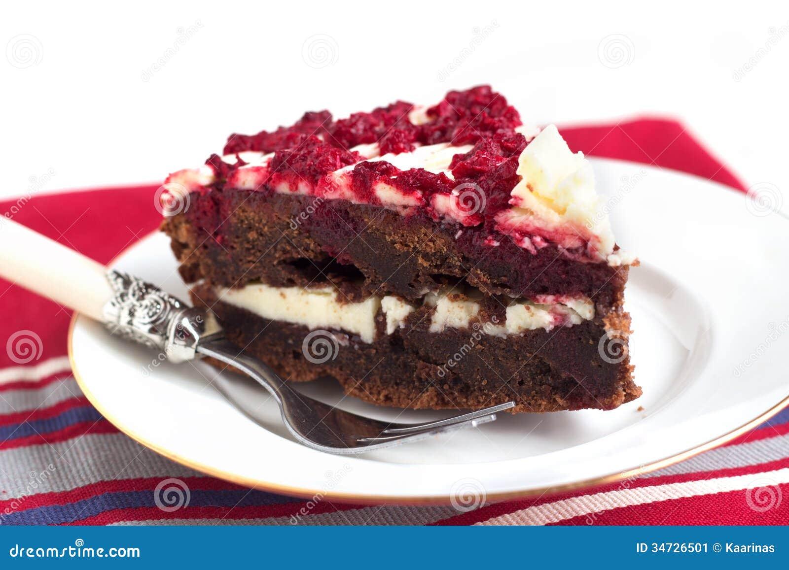 Chocolate Raspberry Layered Cake