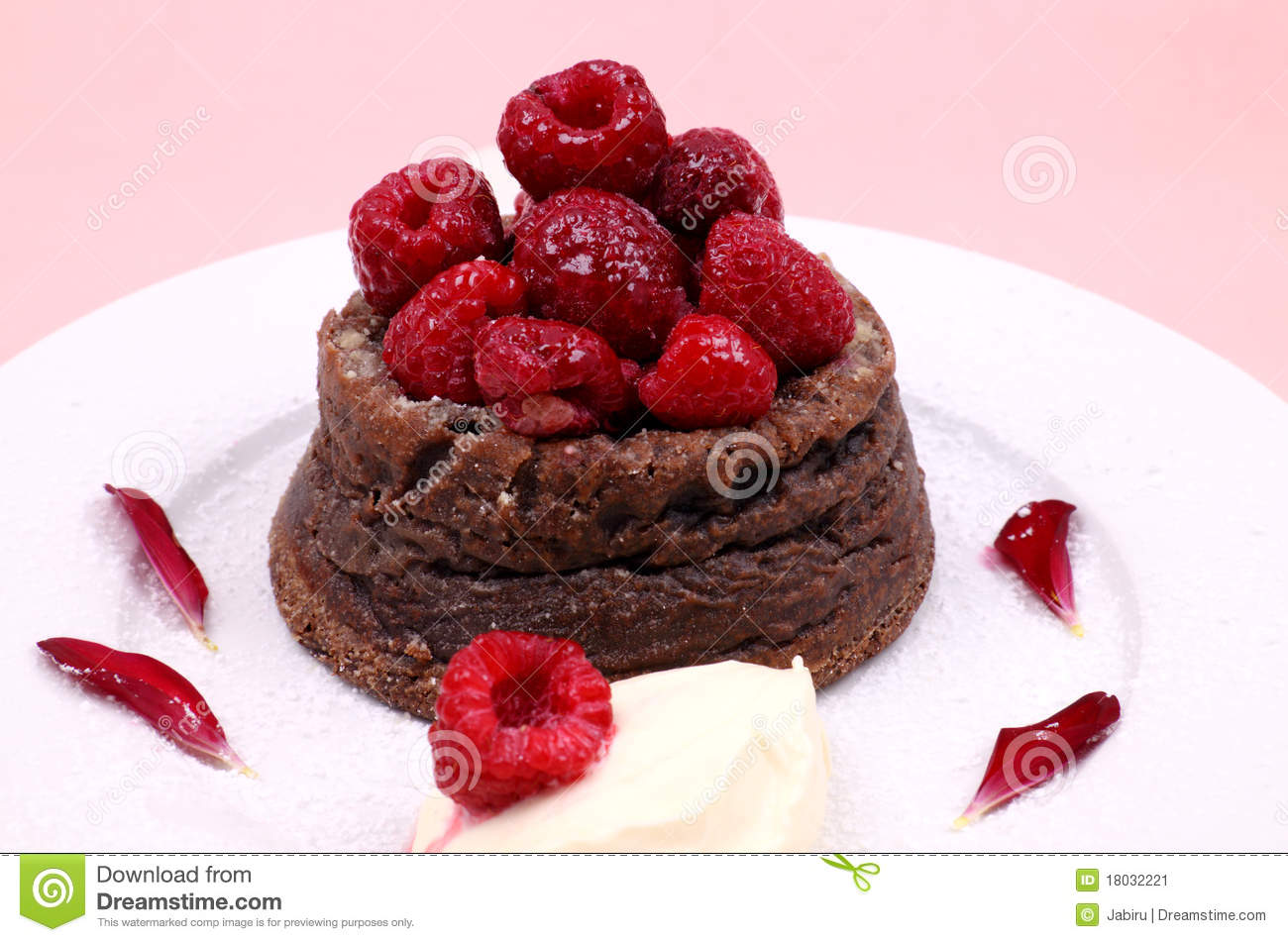 Raspberry Chocolate Dessert Stock Image Image 18032221