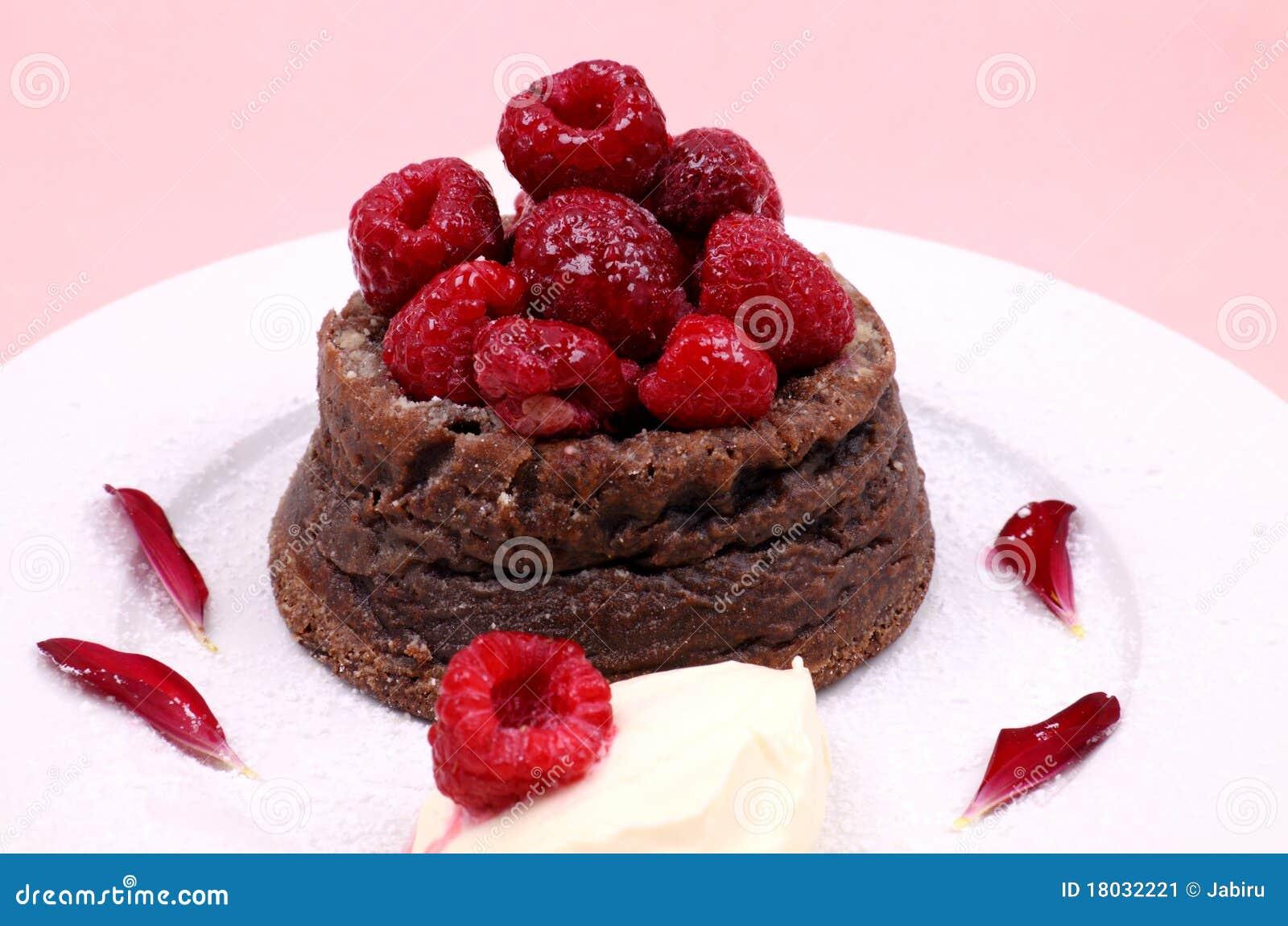 Raspberry Chocolate Dessert Stock Image Image 18032221