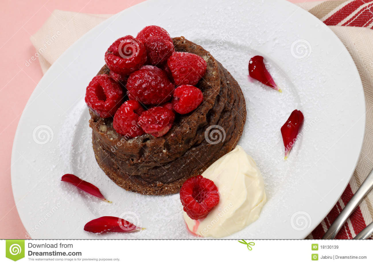 Raspberry Chocolate Dessert Royalty Free Stock Images