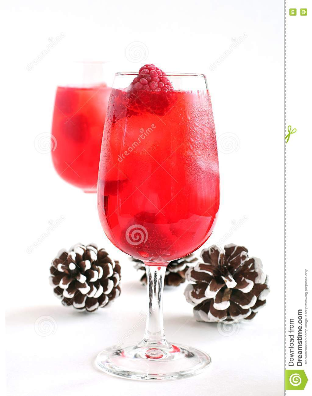Raspberry Cocktail Royalty Free Stock Photography - Image: 17125477