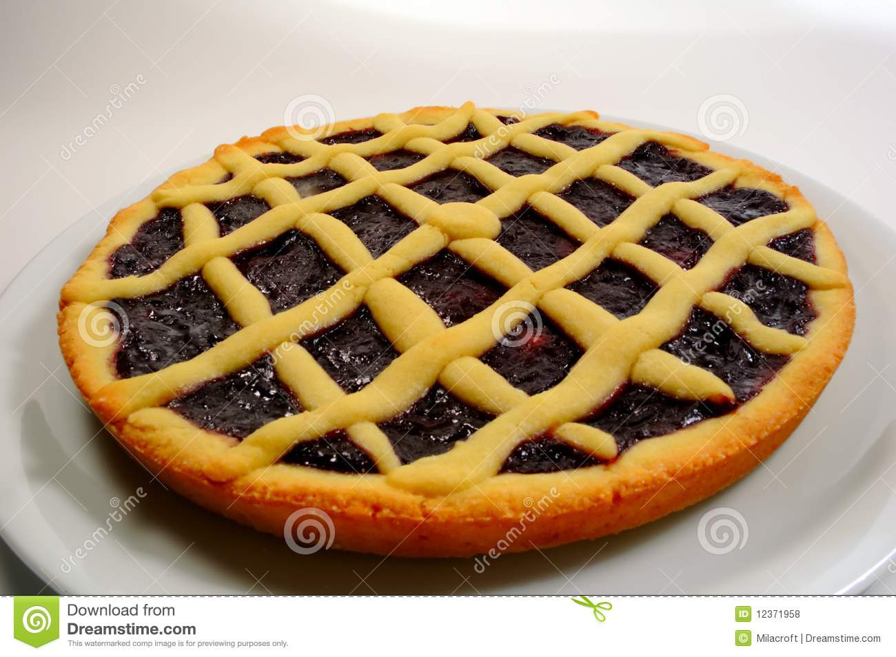 Raspberry Crostata - Italian Tart Stock Photo - Image ...