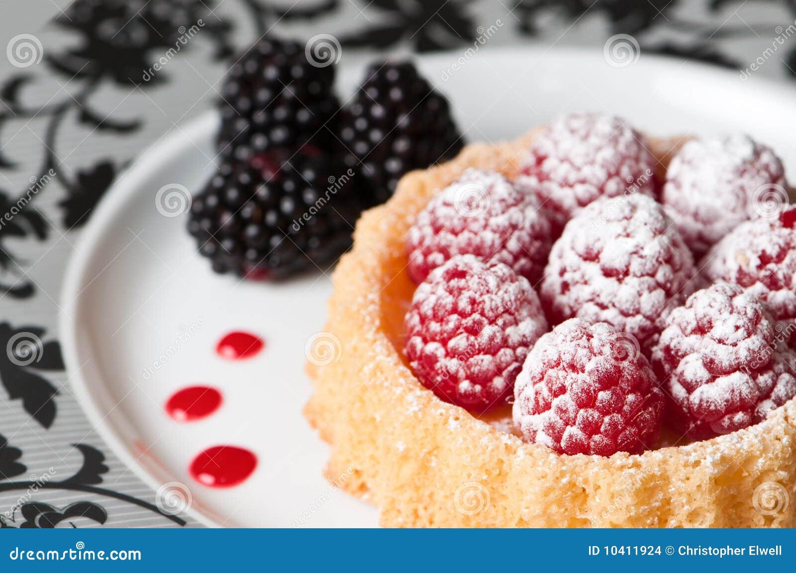Download Raspberry Dessert stock photo. Image of plate, fine, flan - 10411924