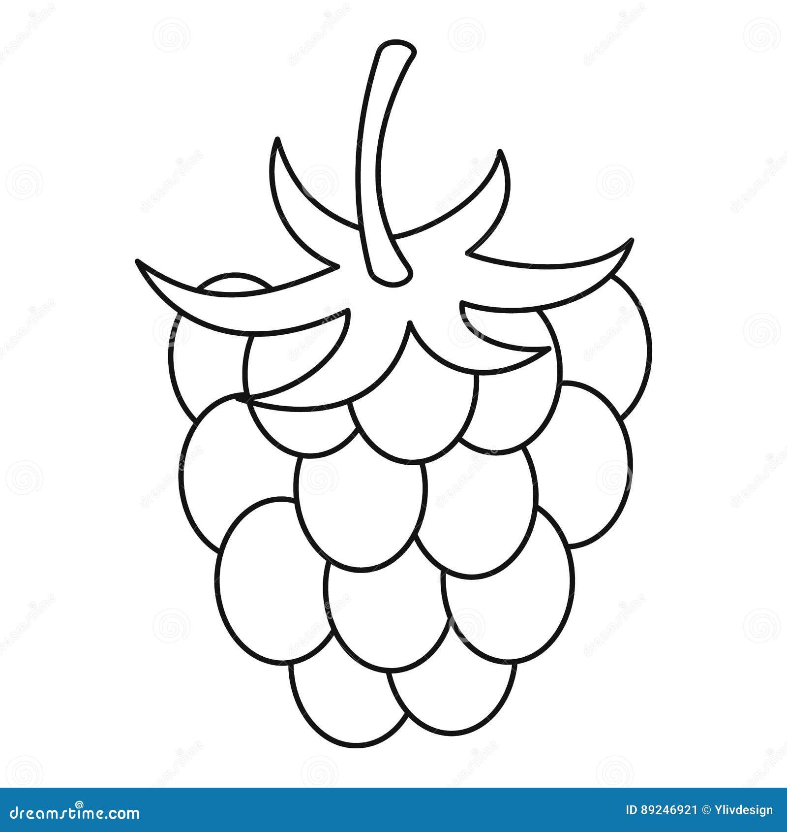 Raspberry Icon, Outline Style Stock Vector - Image: 89246921