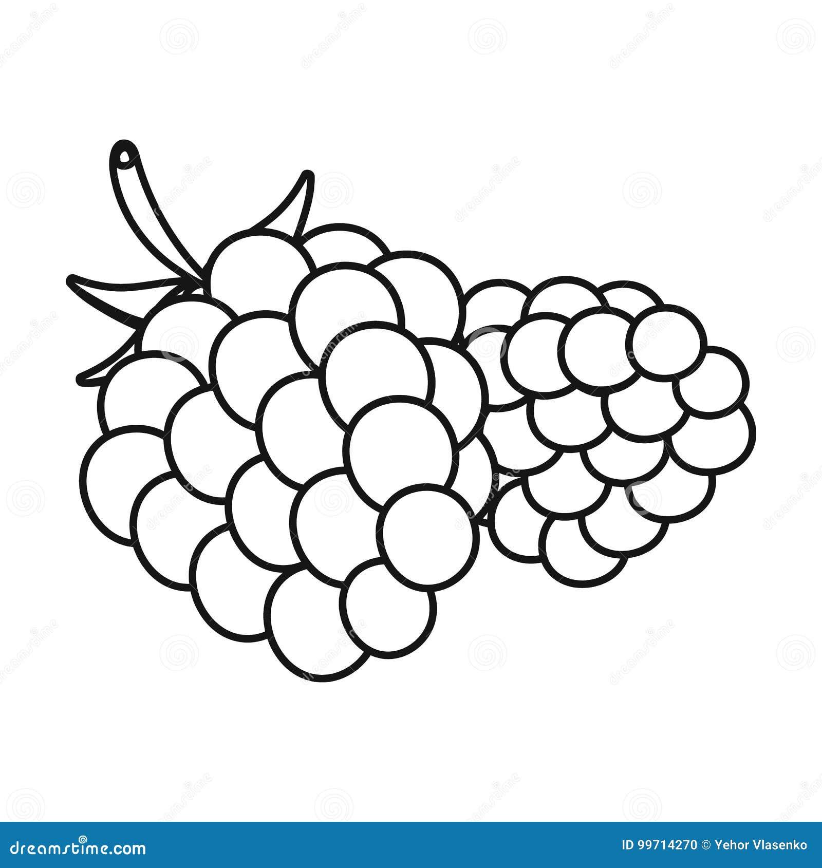 Raspberry, Sweet Fruit.Fruit Single Icon In Outline Style ...
