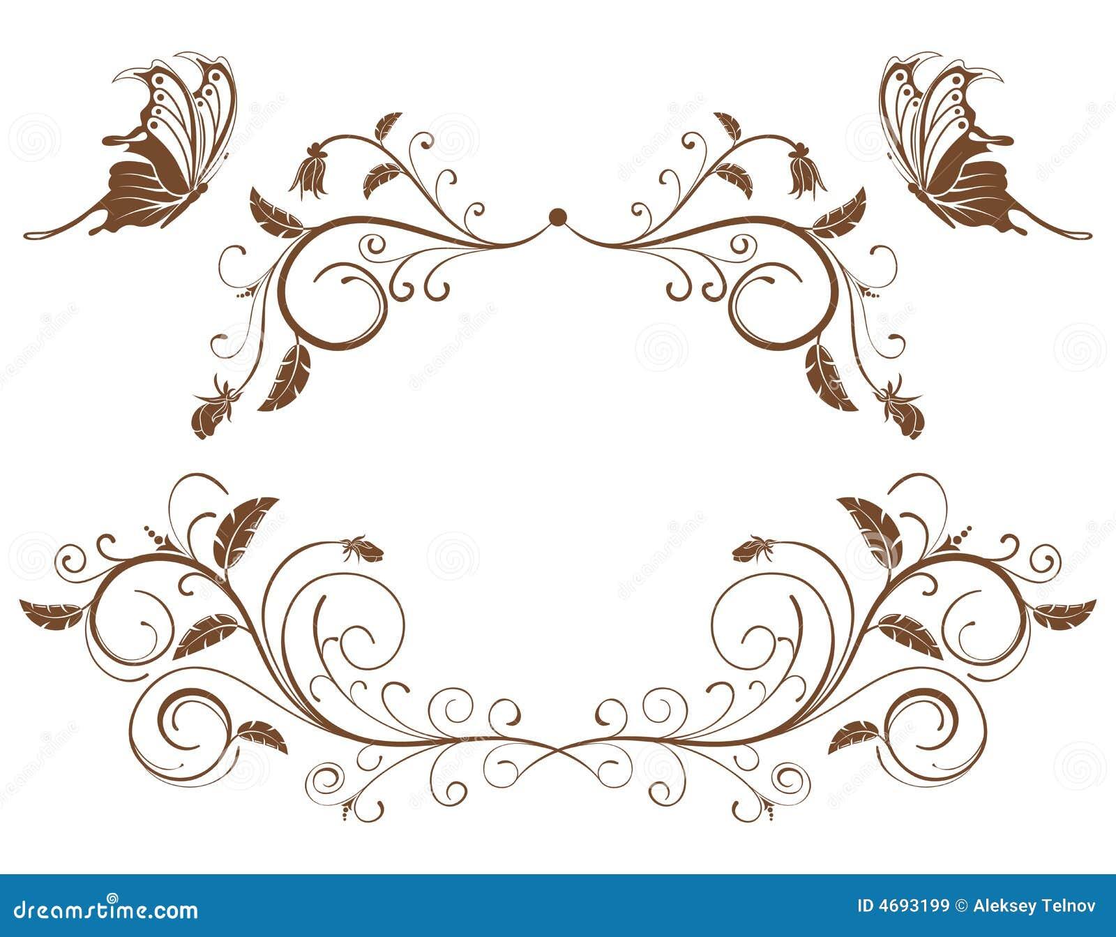 rassemblez le cadre de fleur images libres de droits image 4693199. Black Bedroom Furniture Sets. Home Design Ideas