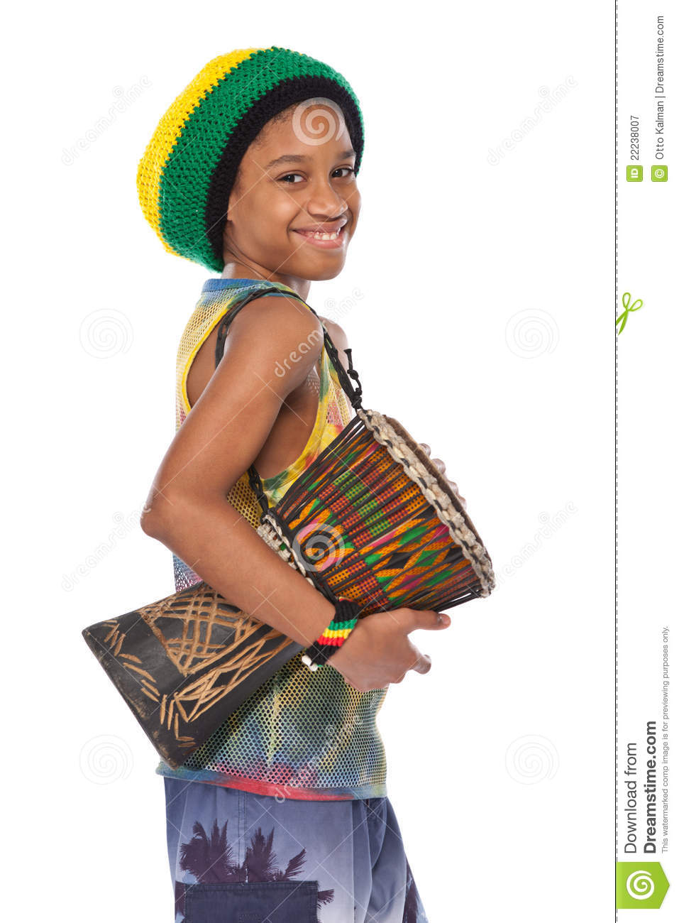 rasta kid with conga stock image image of bang ethnic 22238007
