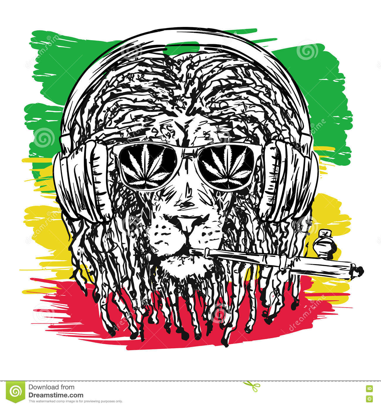 Judah stock illustrations 125 judah stock illustrations vectors rasta lion vector vector illustration depicting a lion with dreadlocks with chillum glasses and biocorpaavc Image collections