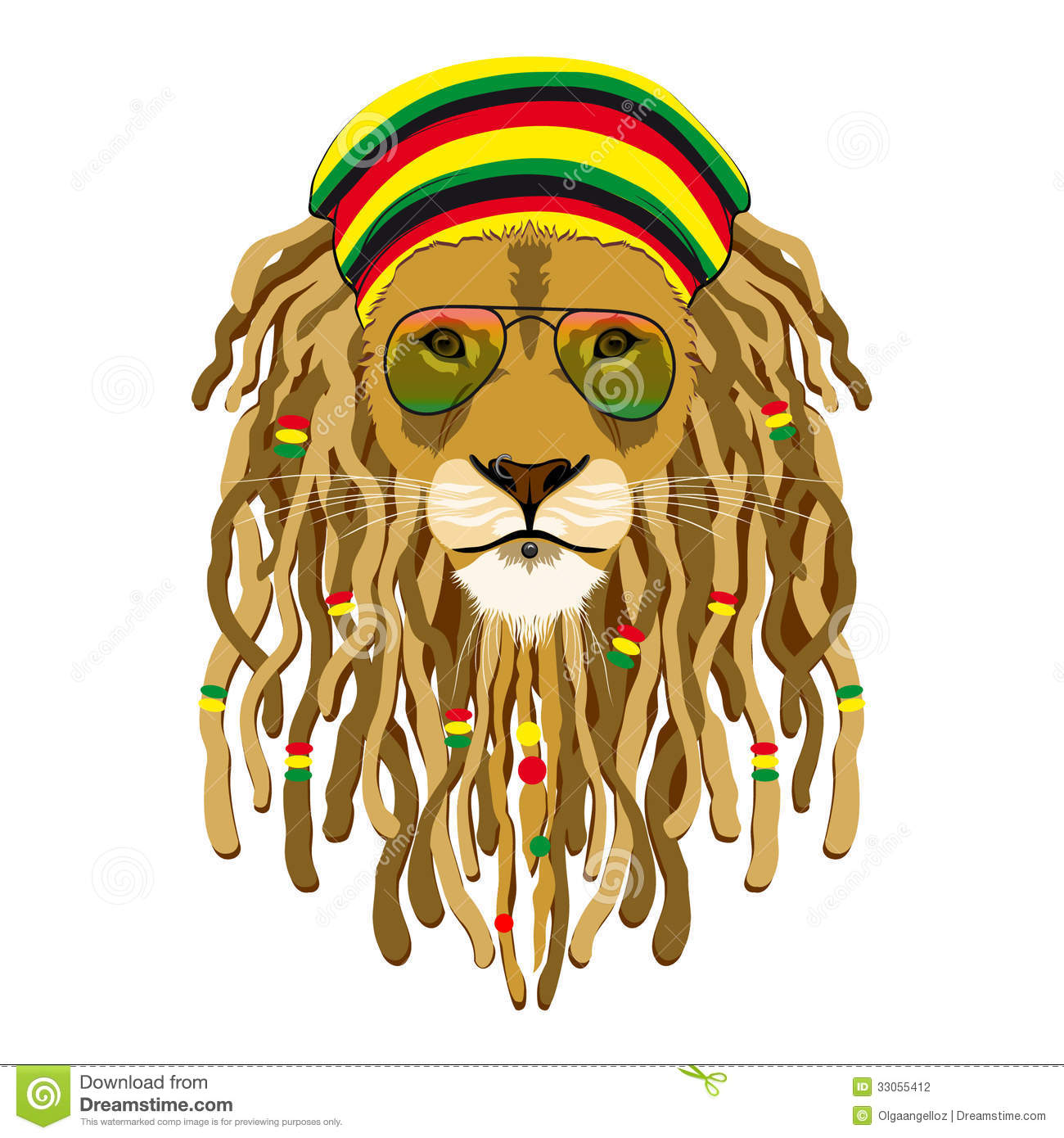 Rasta lion face sketch - photo#25