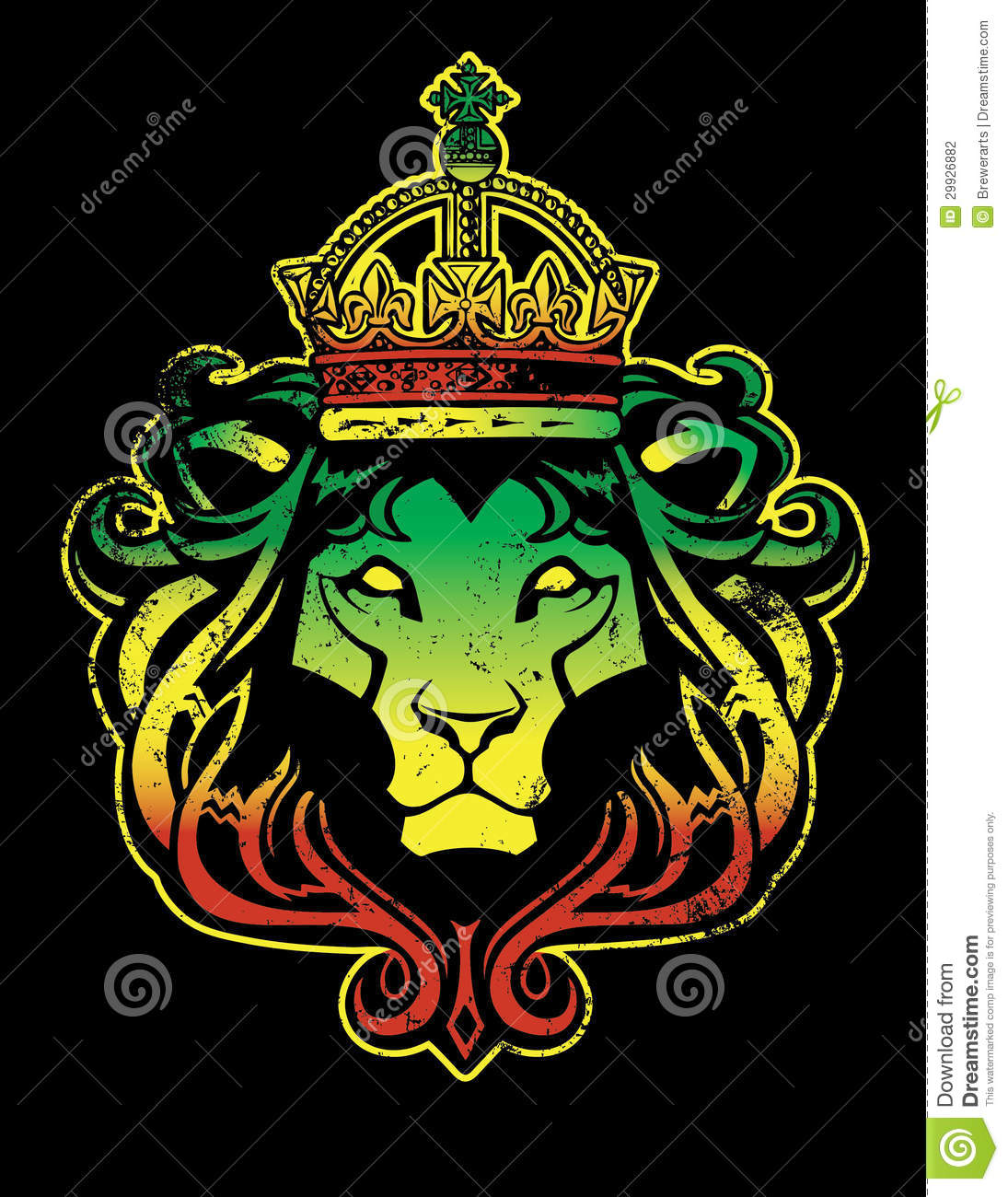 Rastafarian Lion Stock Photography Image 29926882