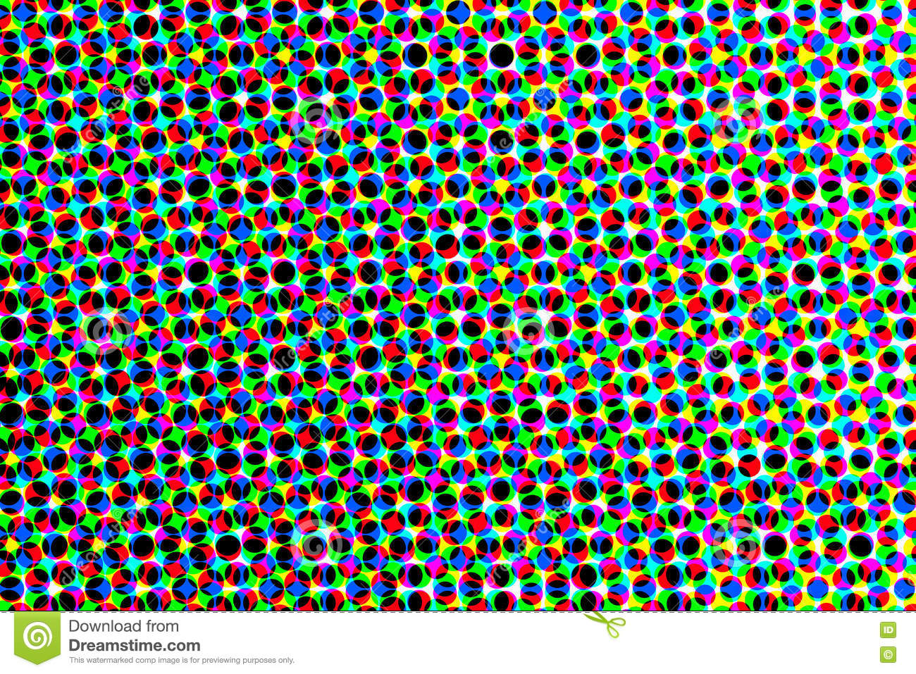 Raster Background Of Colored Circles Stock Illustration ...
