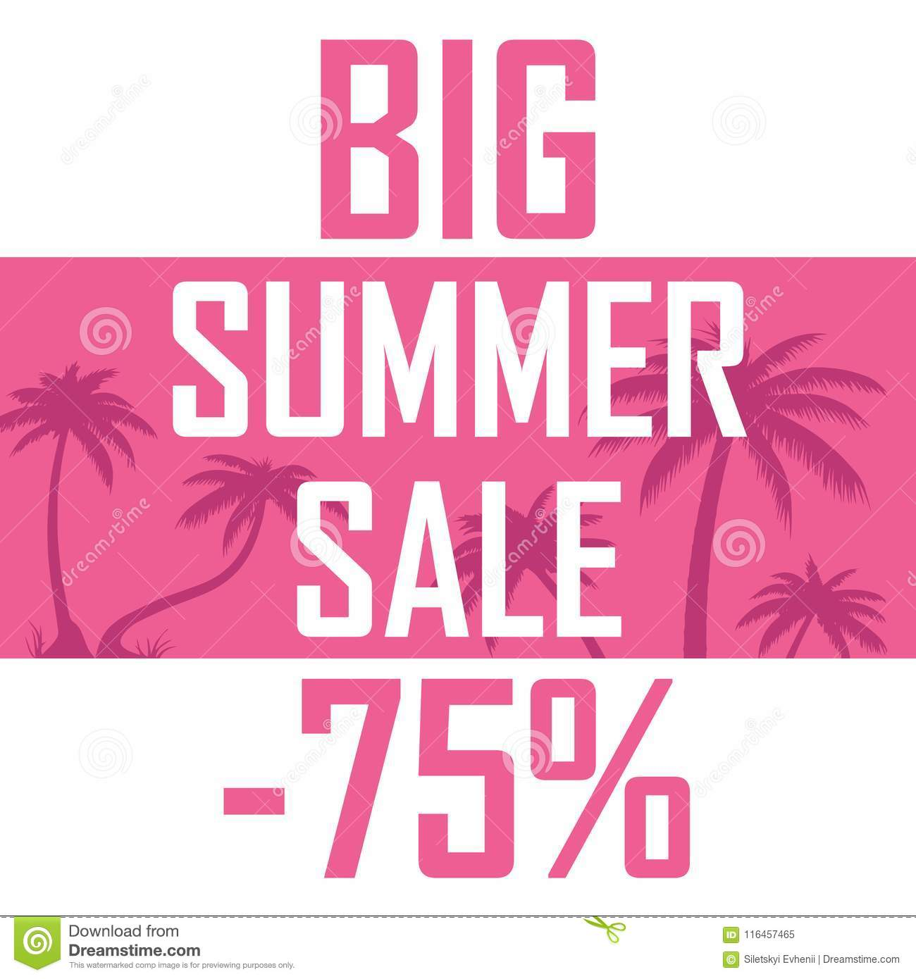 Sale of summer goods, poster discounts for 75 percent