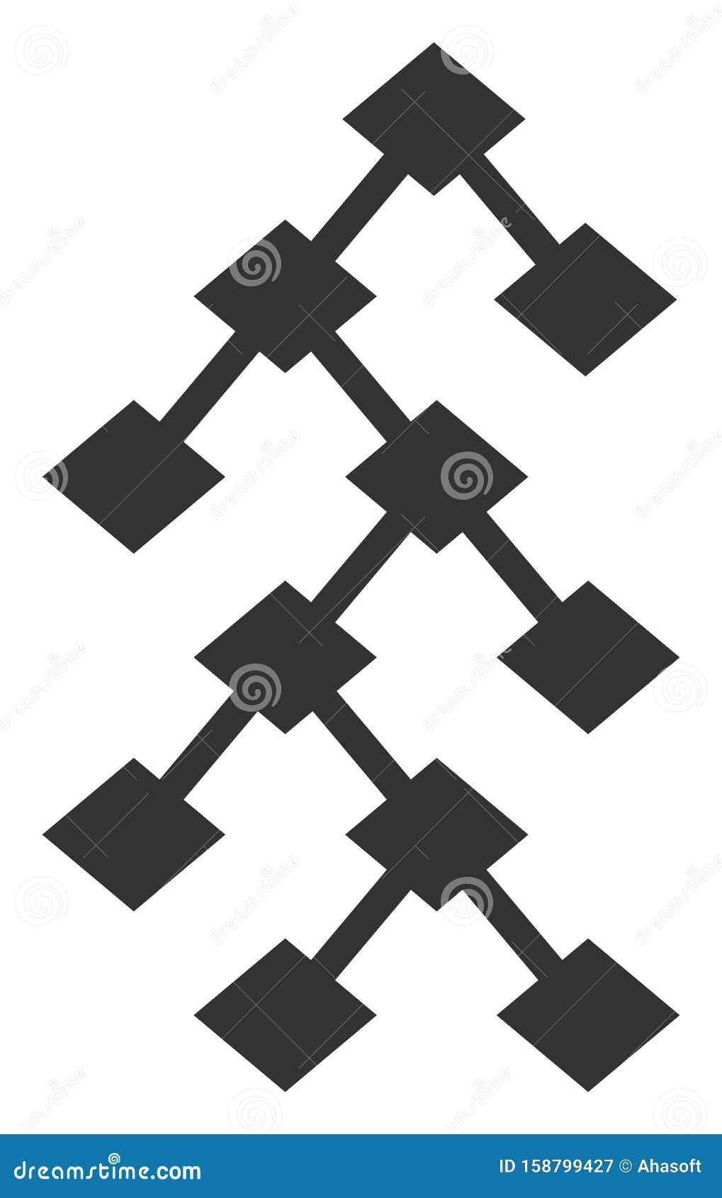 Raster Flat Binary Tree V8 Icon