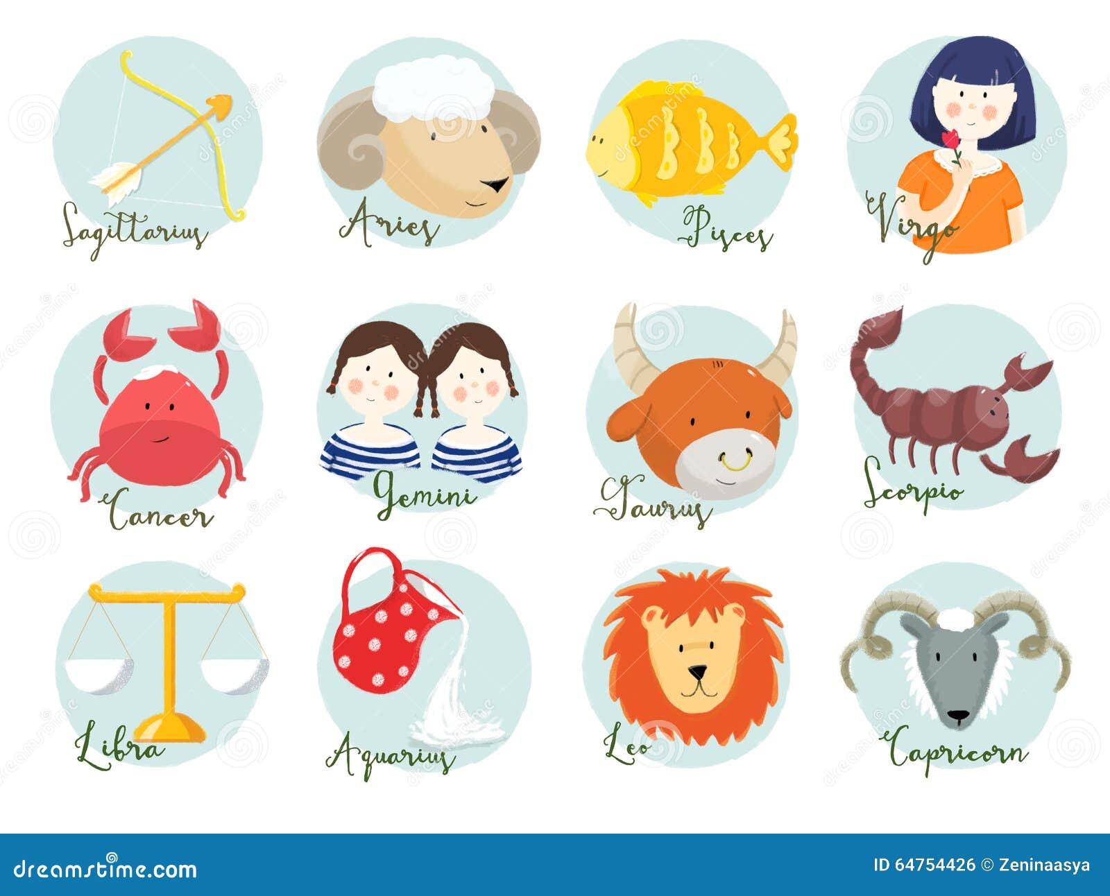 Raster horoskopu znaki