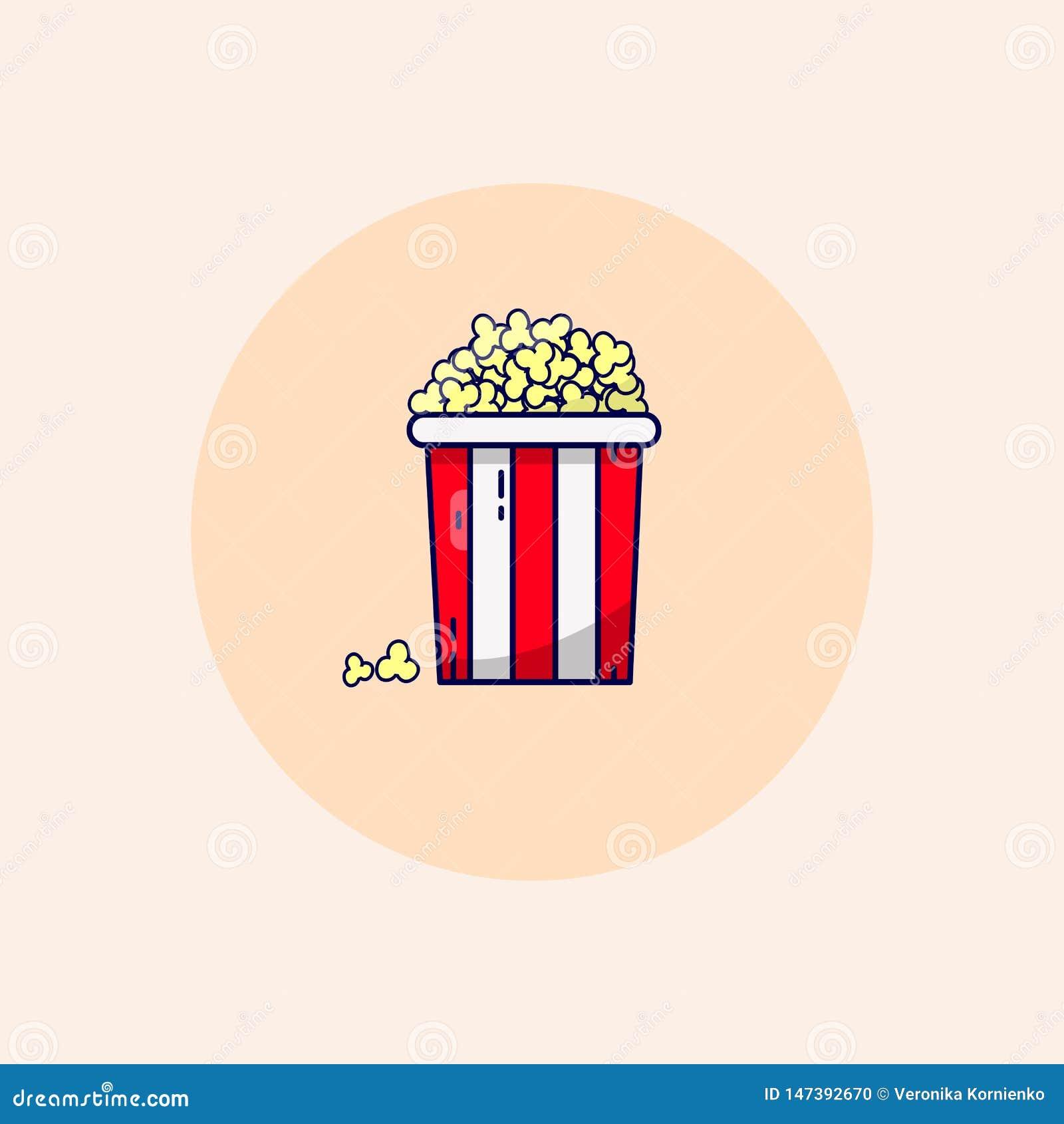 Raster popcorn cinema bucket in pastel colors.