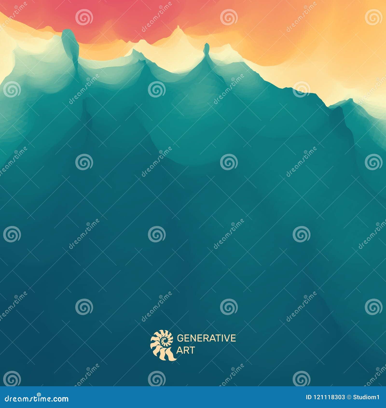 Rasterversion der Abbildung Goldene Kräuselungen im Wasser Feld des grünen Grases gegen einen blauen Himmel mit wispy weißen Wolk