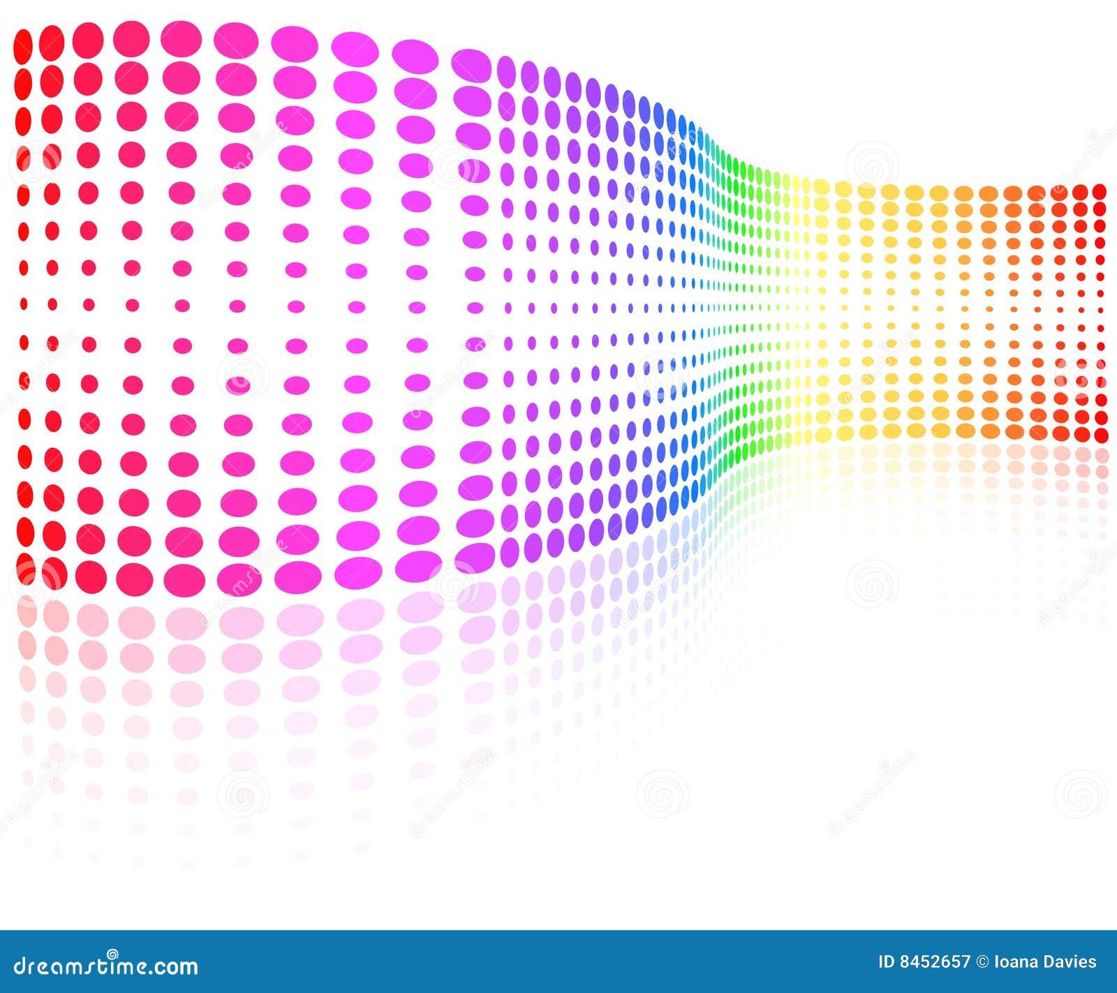 Rastrerad wave för färgrika prickar