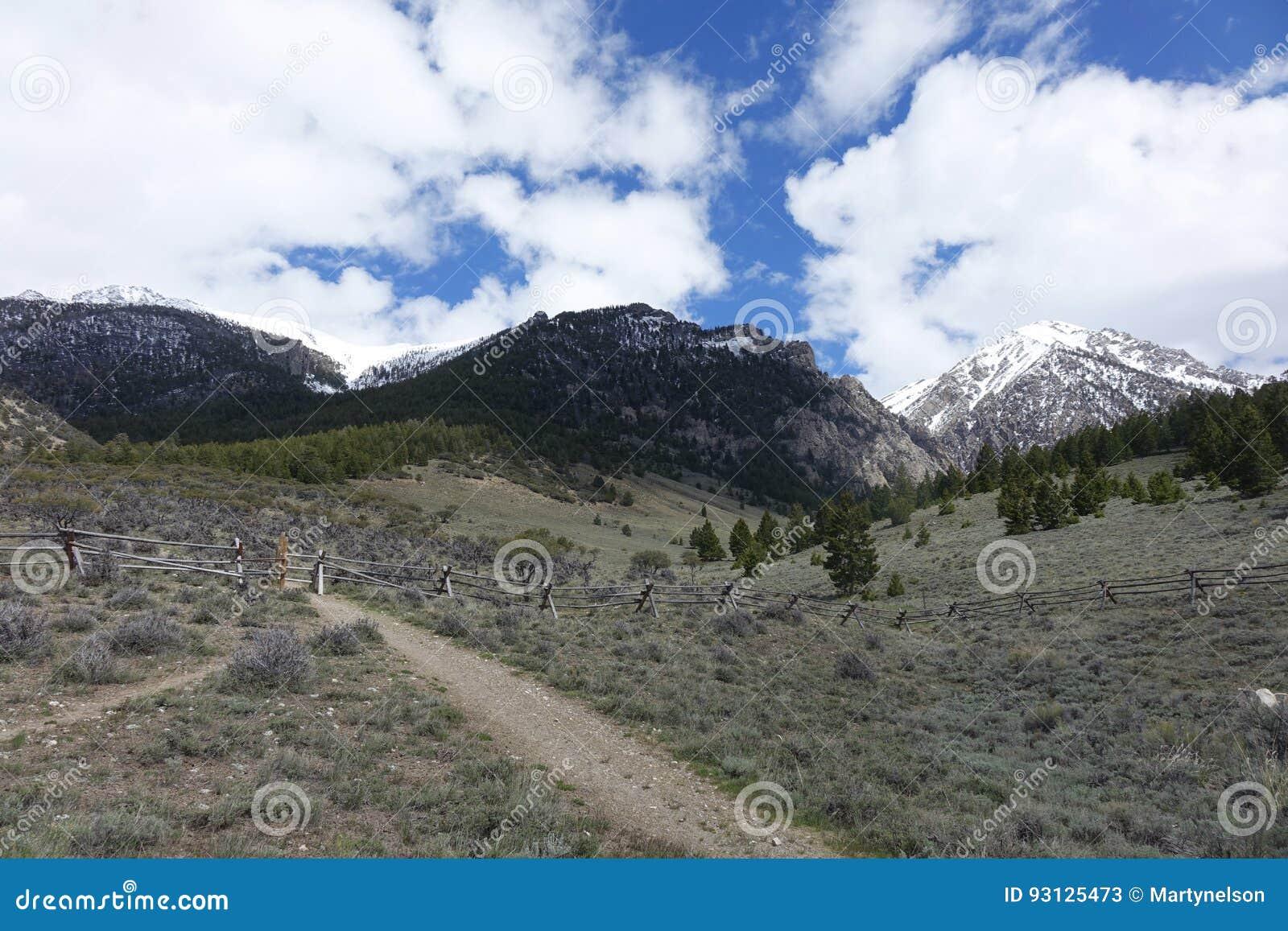 Rastro-cabeza para subir el Mt Borah