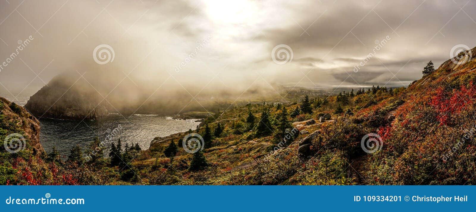 Rastro de la costa este en Terranova, Canadá