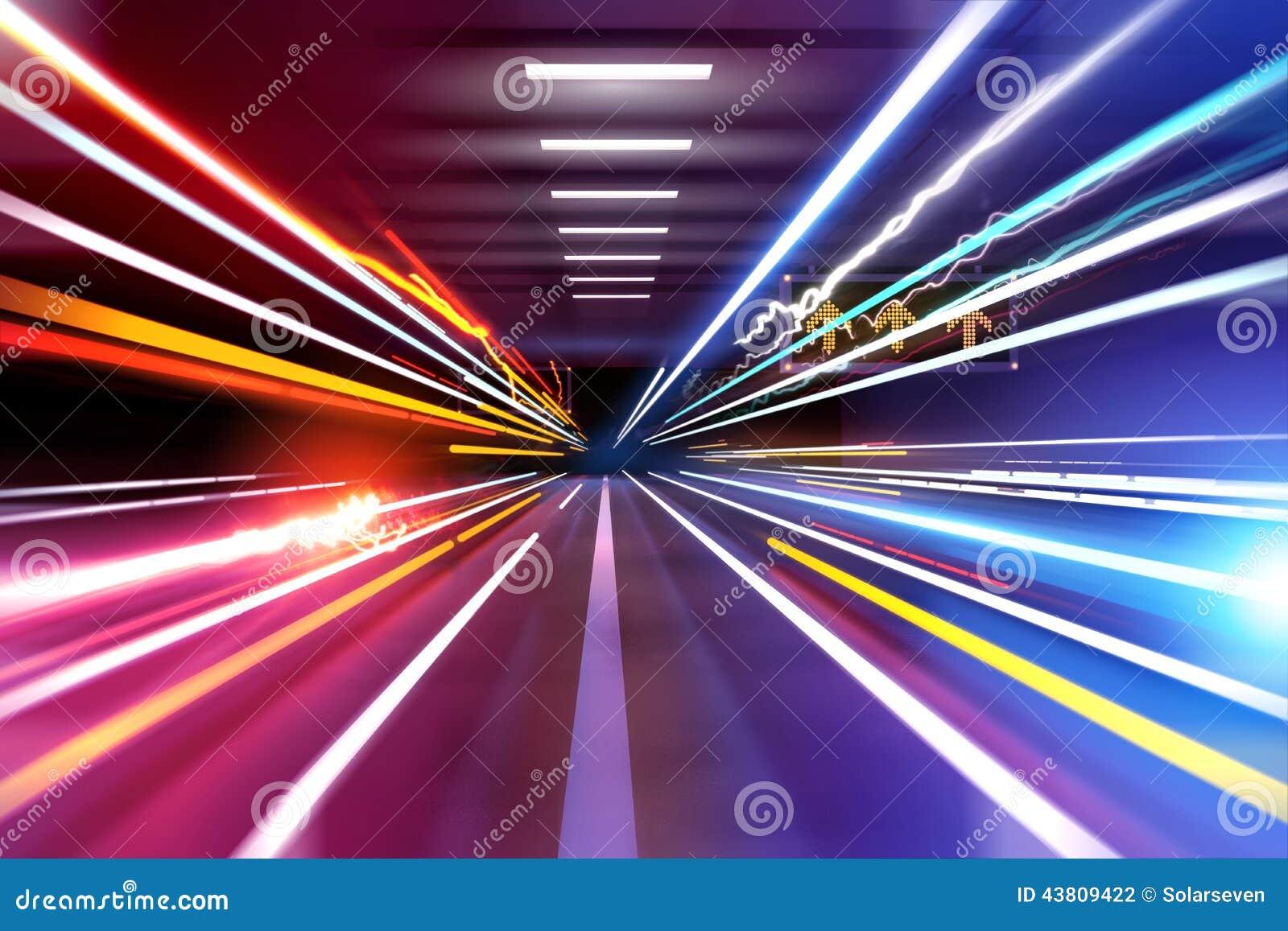 Rastros de la luz del coche
