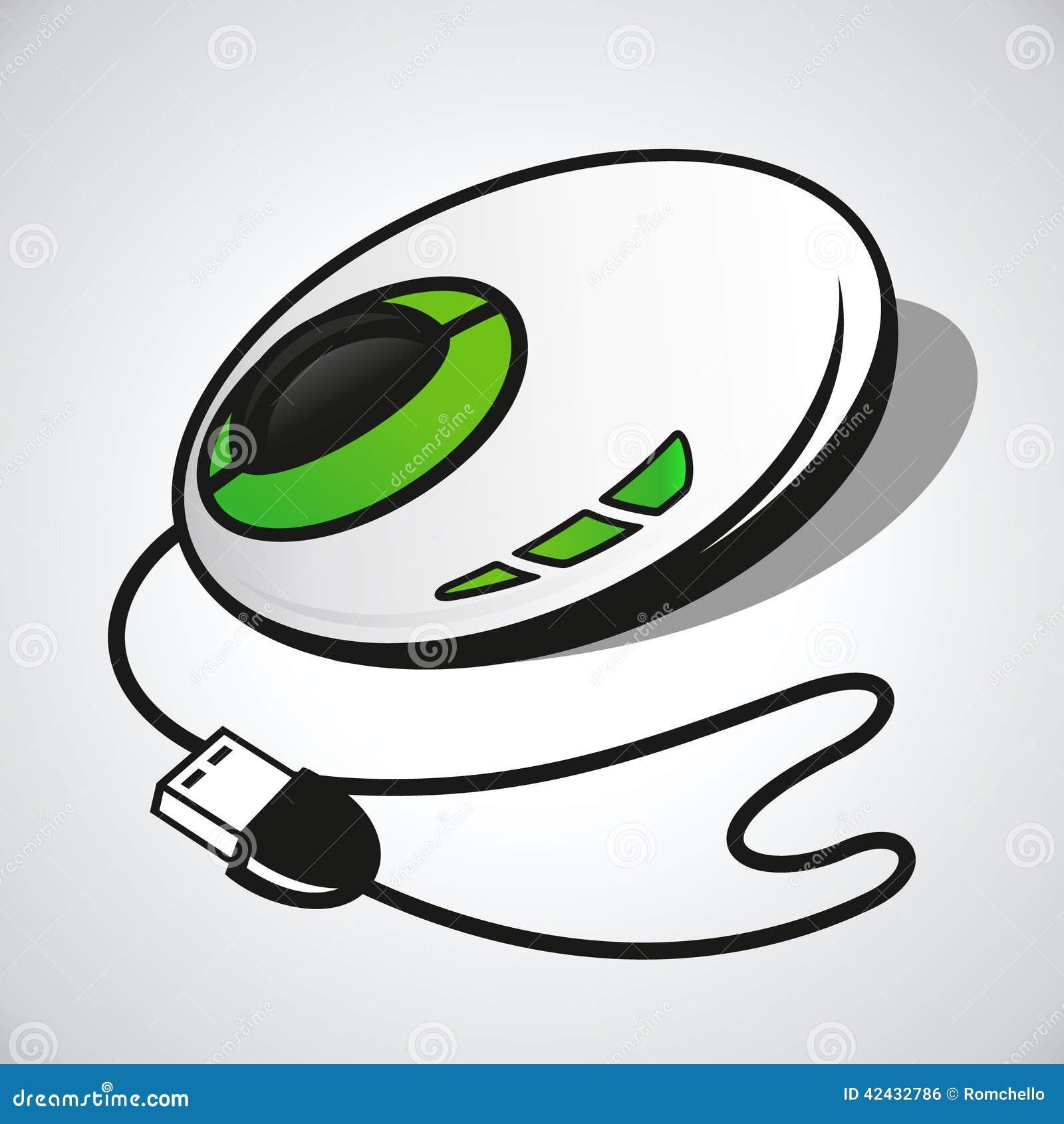 Ratón óptico del vector