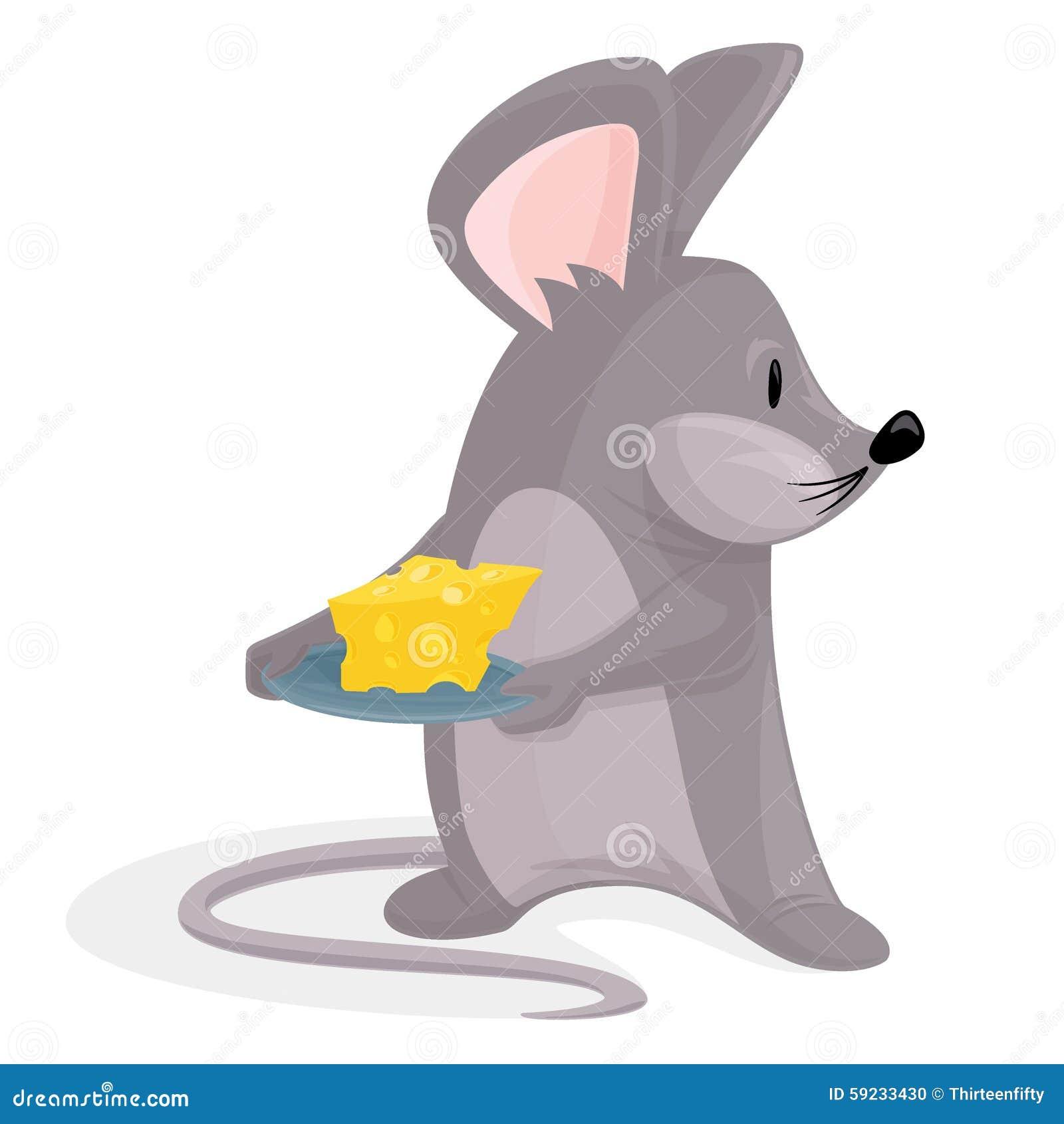 Download Ratón con queso ilustración del vector. Ilustración de mamífero - 59233430