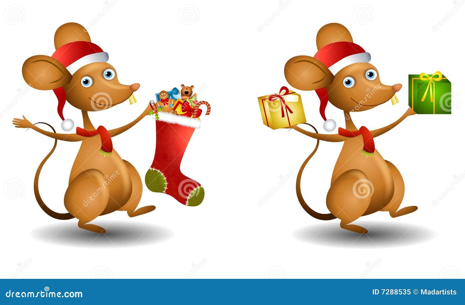 Ratón de Santa de la historieta