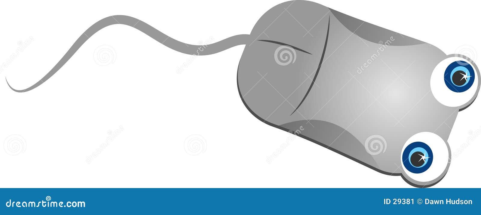 Ratón gris del ordenador