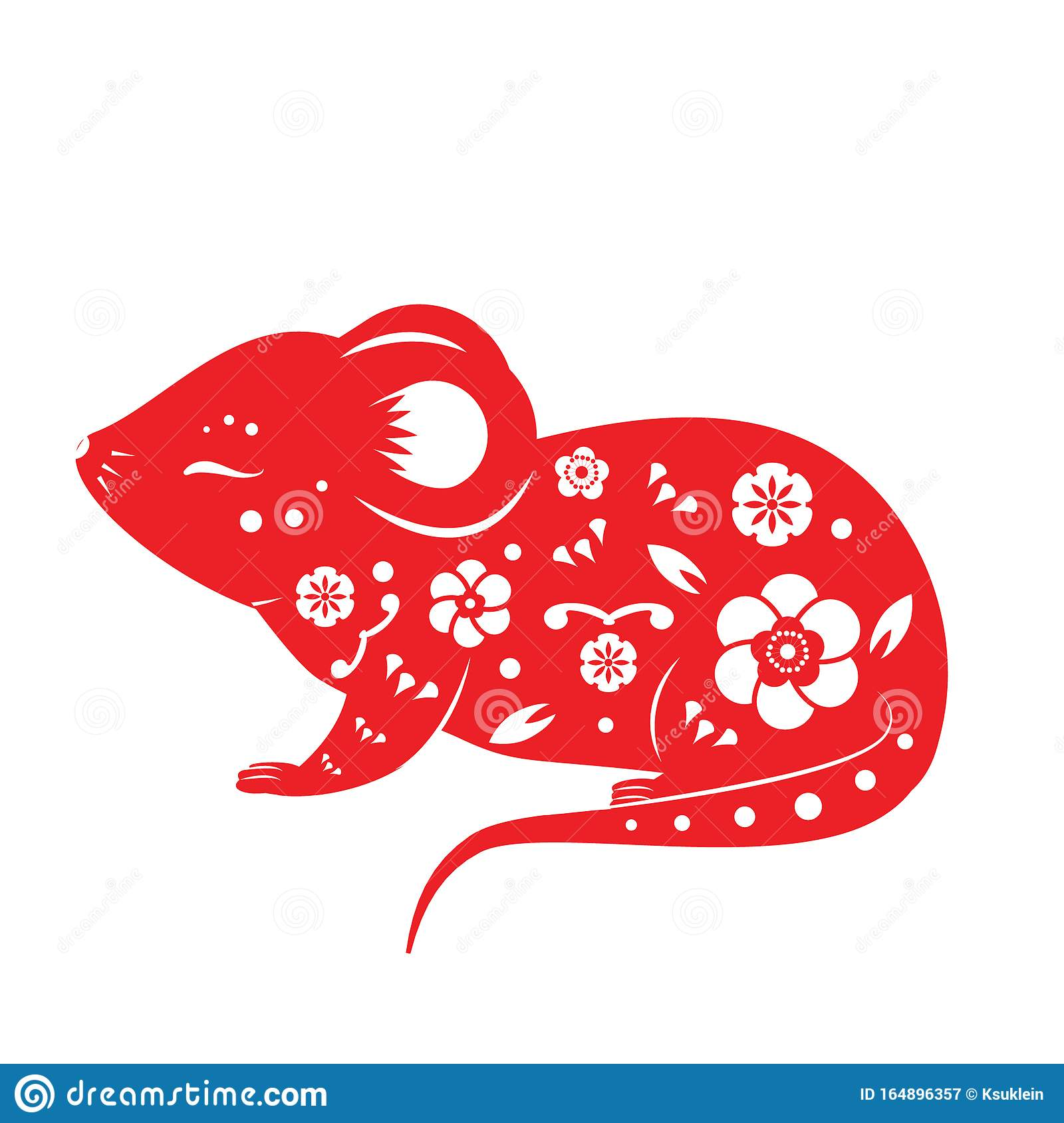 Size #2679 Rat Chinese Symbols Decal Sticker Choose Color