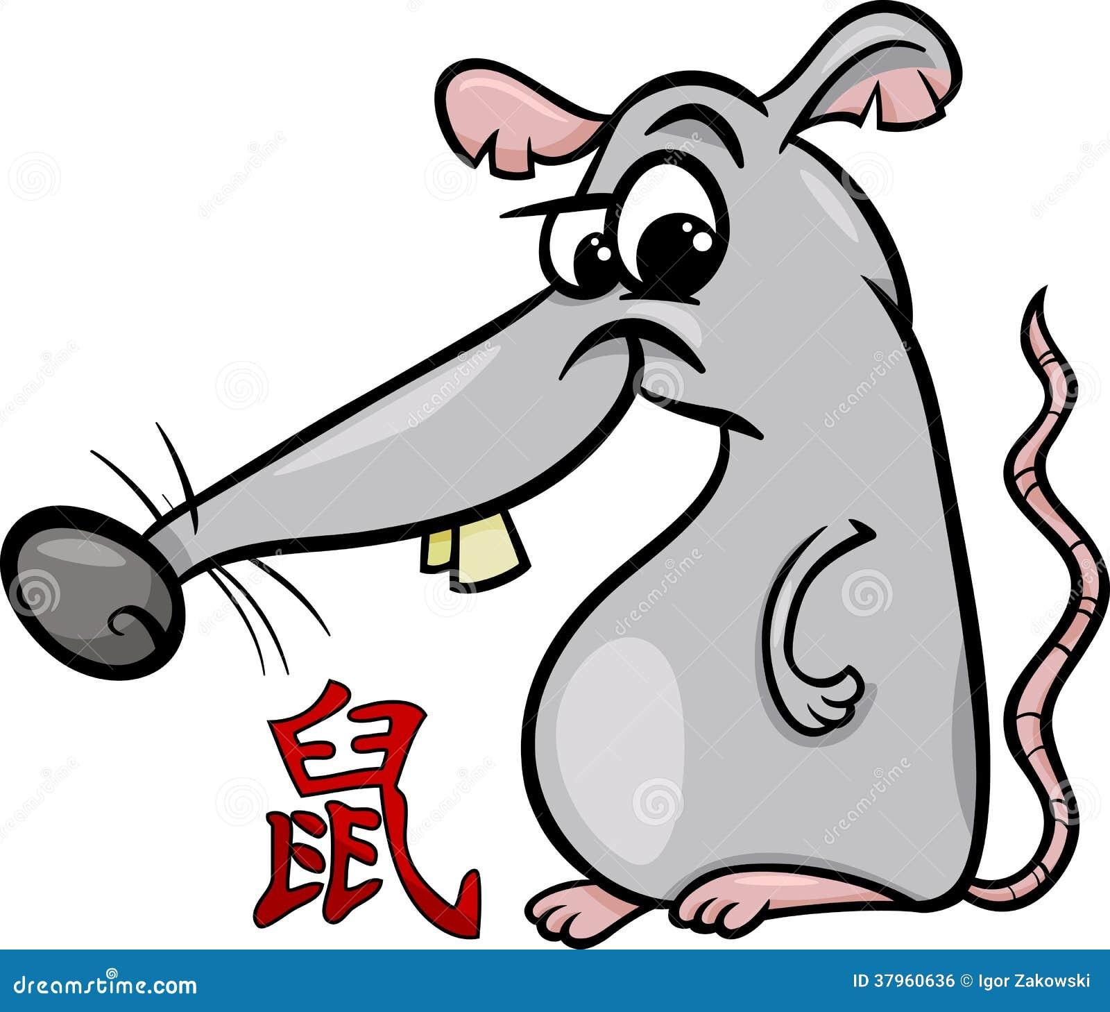 Rat Chinese Zodiac Horoscope Sign Royalty Free Stock Image - Image ...