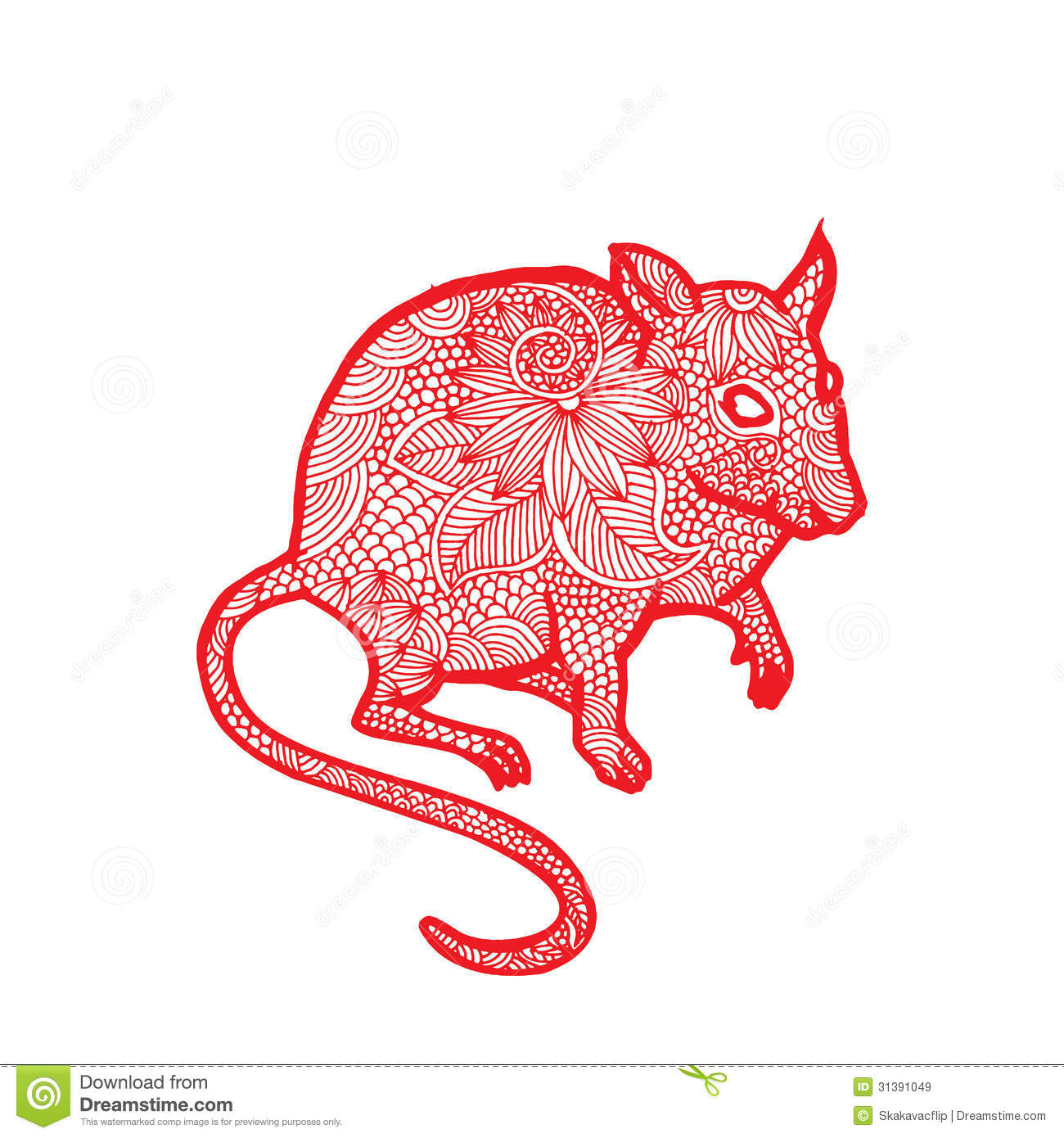 Rat Chinese Zodiac Stock Vector Illustration Of Empire 31391049