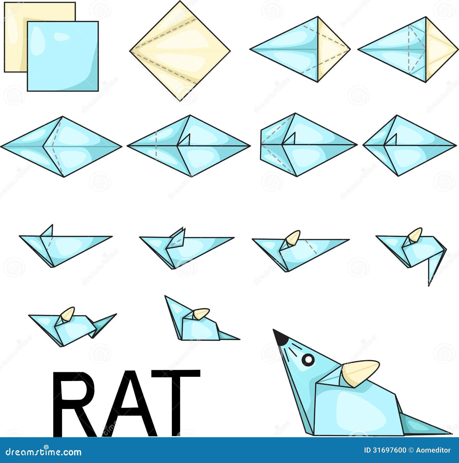 rat d 39 origami photo stock image 31697600. Black Bedroom Furniture Sets. Home Design Ideas
