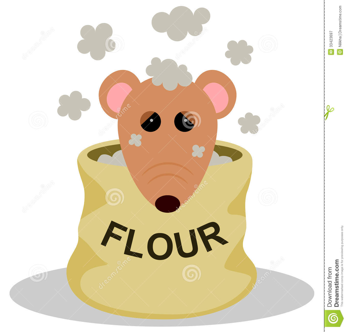 rat in flour royalty free stock photography image 33423697. Black Bedroom Furniture Sets. Home Design Ideas