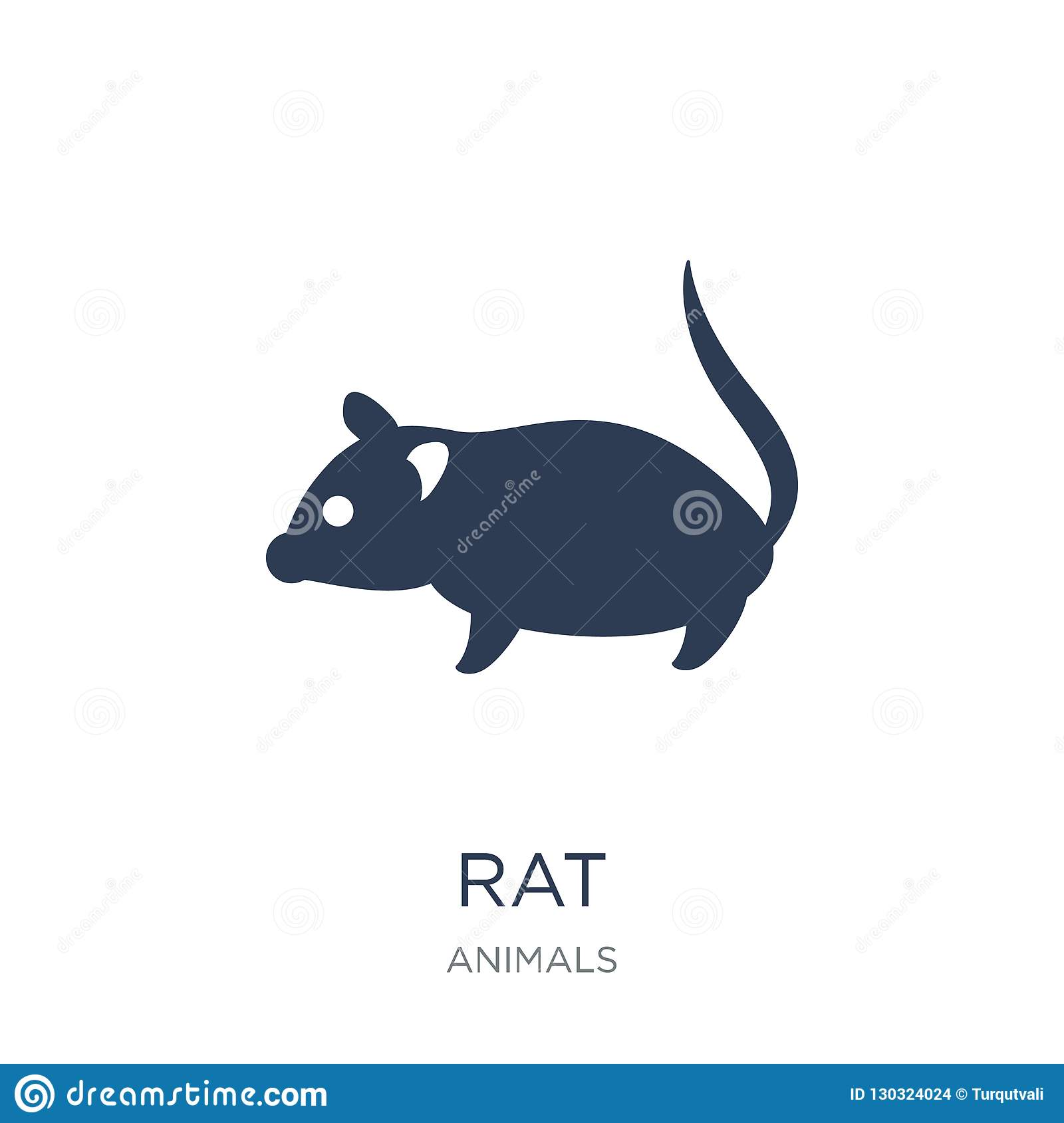 Rat icon. Trendy flat vector Rat icon on white background from a