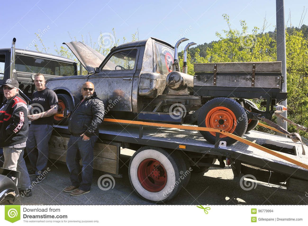 Rat Rod Peugeot 403 Editorial Stock Image Image Of Grill 96779994