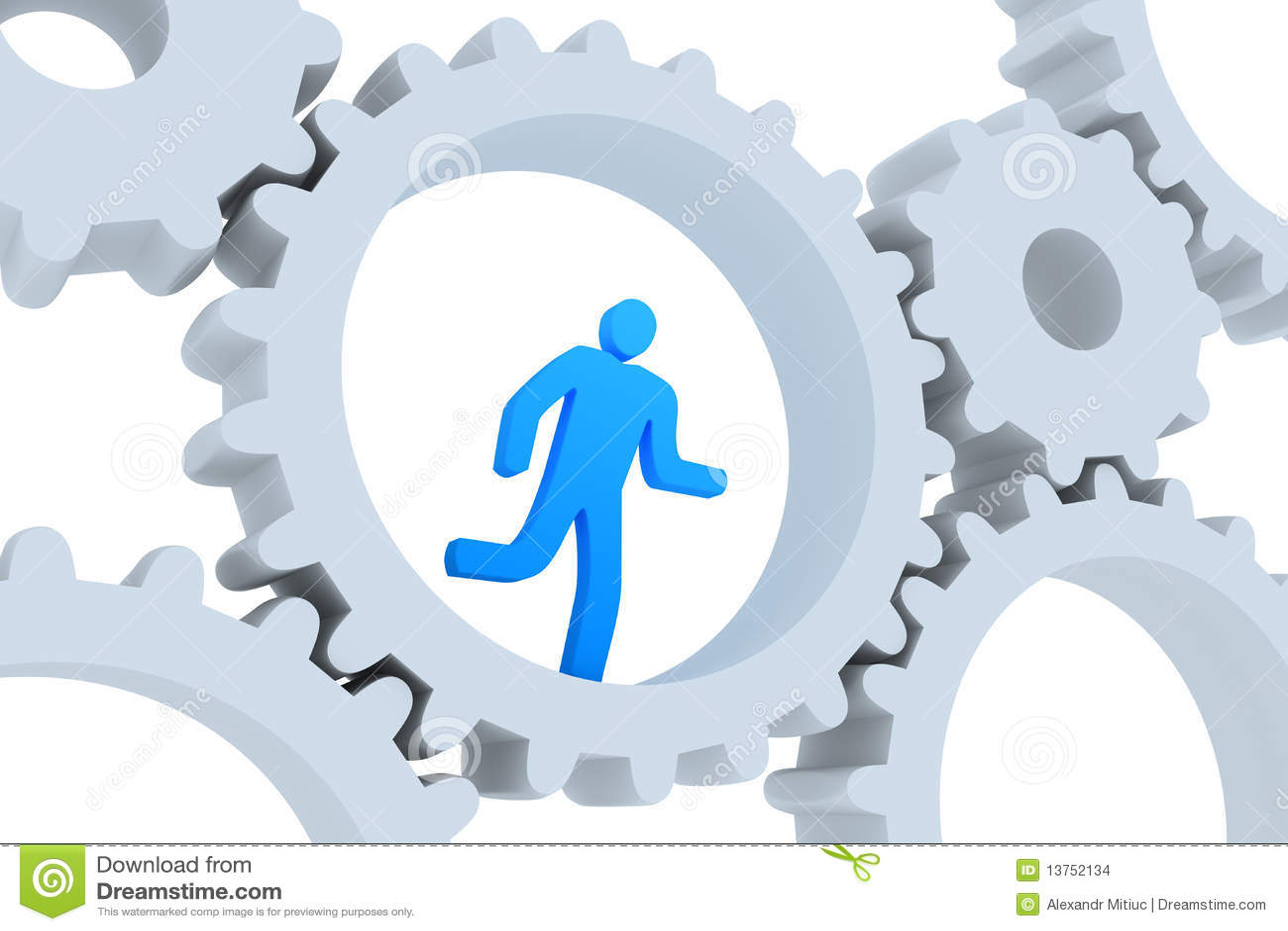 Rat running - Business concept