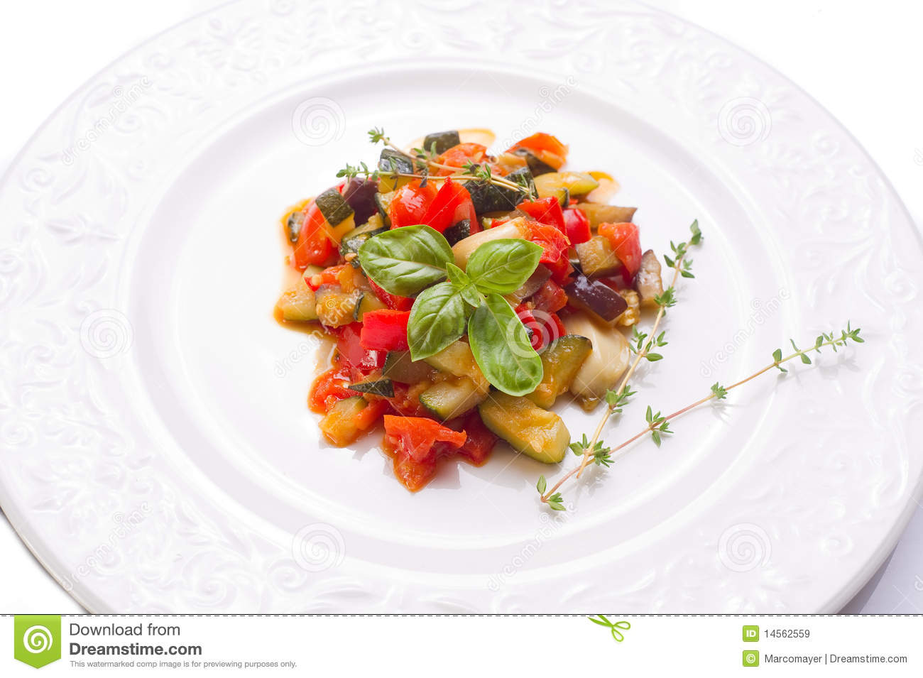 Ratatouille With Basil Royalty Free Stock Images - Image: 14562559