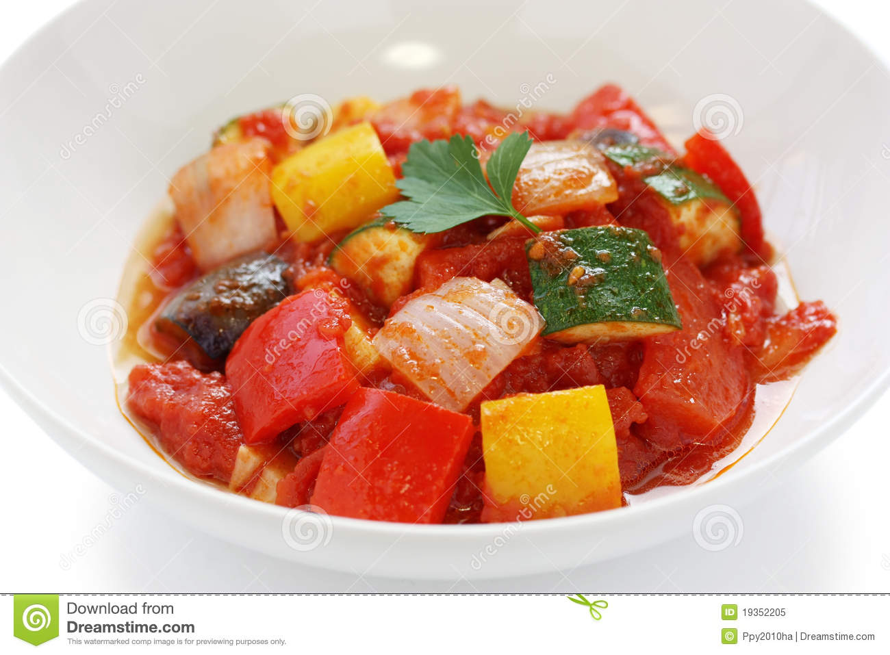 Ratatouille , French Vegetable Stew Royalty Free Stock Photo - Image ...