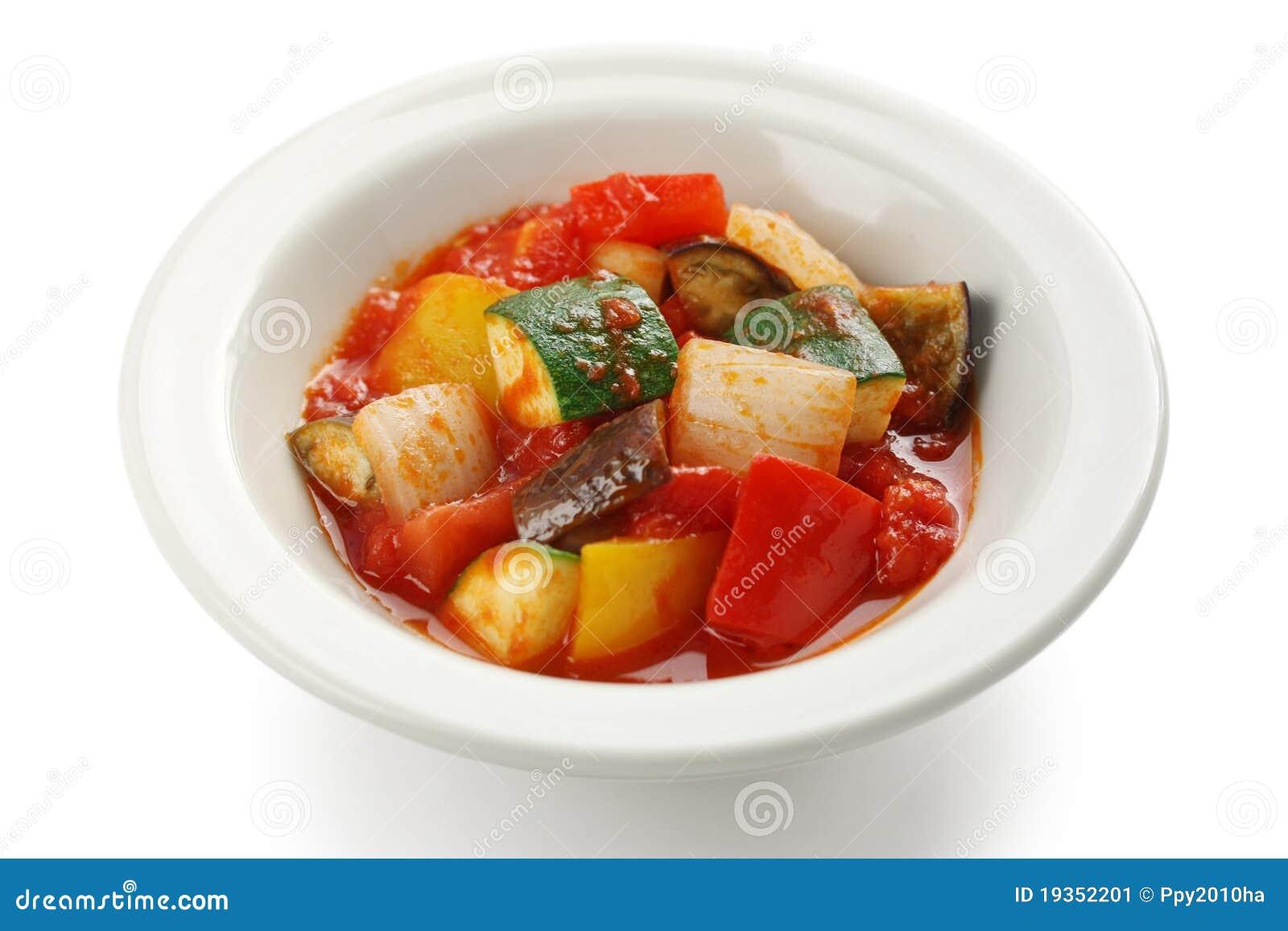 Ratatouille, guisado vegetal francês