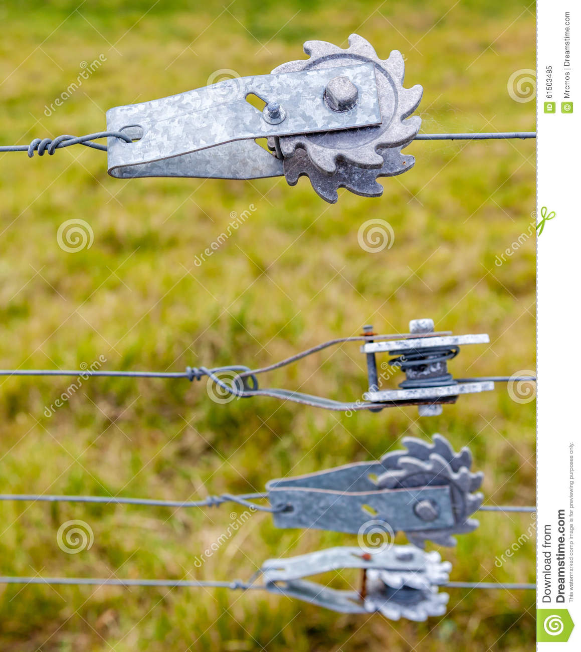 Ratchet Fence Tensioners For Tightening Wire Fences With Blurred ...