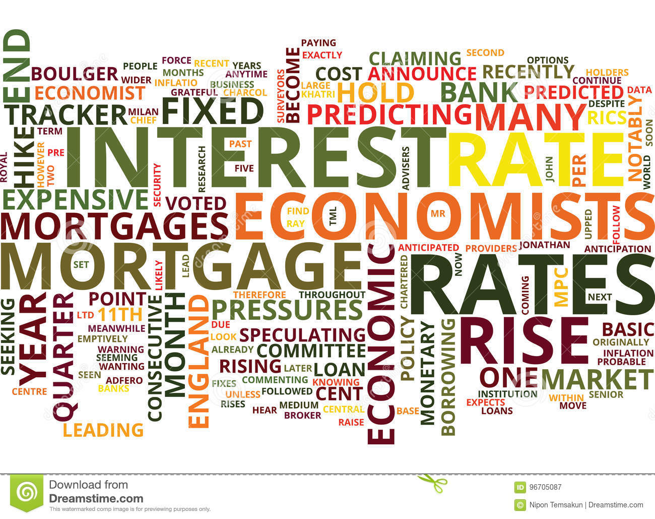 Are Rates Set For A Hike Word Cloud Concept
