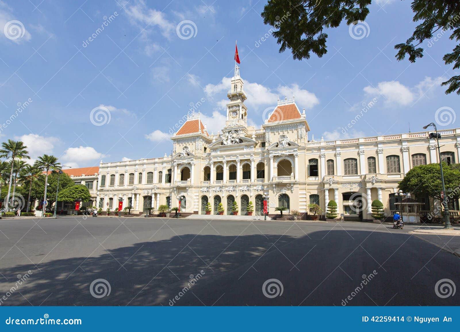 Rathaus von Ho Chi Minh City, Vietnam, südöstliches Asien (UY verbieten Nhan Dan Thanh Pho