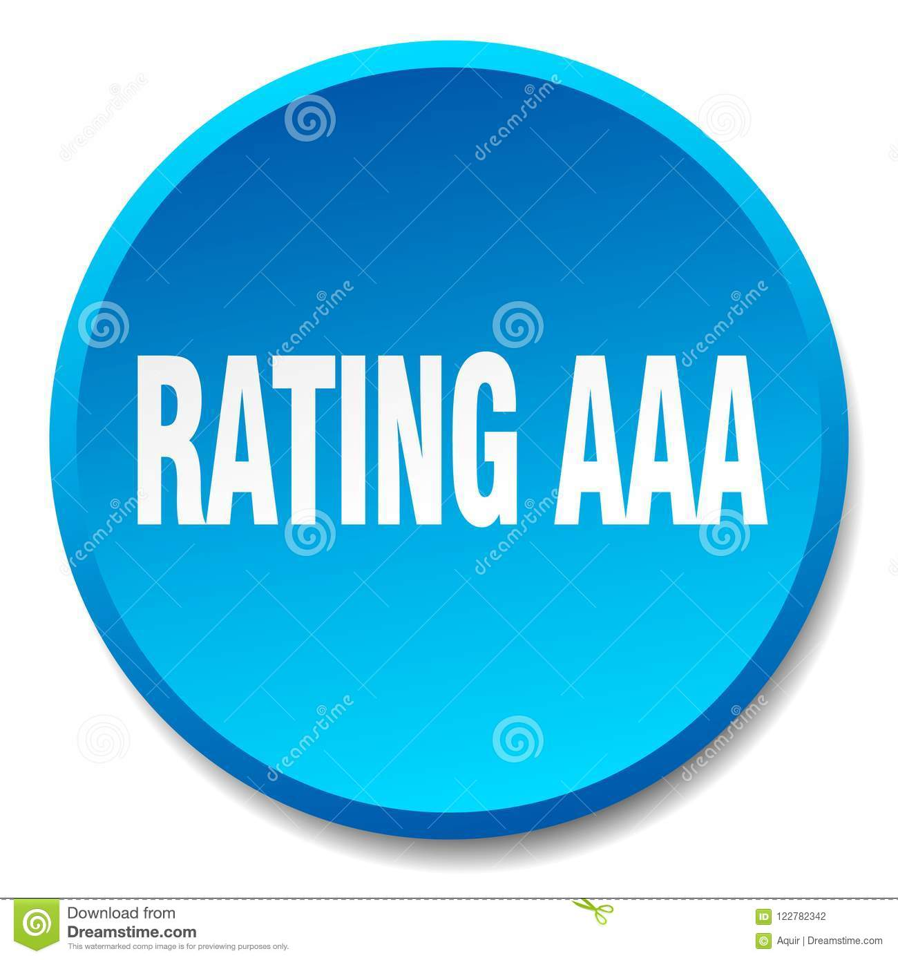 Rating Aaa Button Stock Vector Illustration Of Banner 122782342