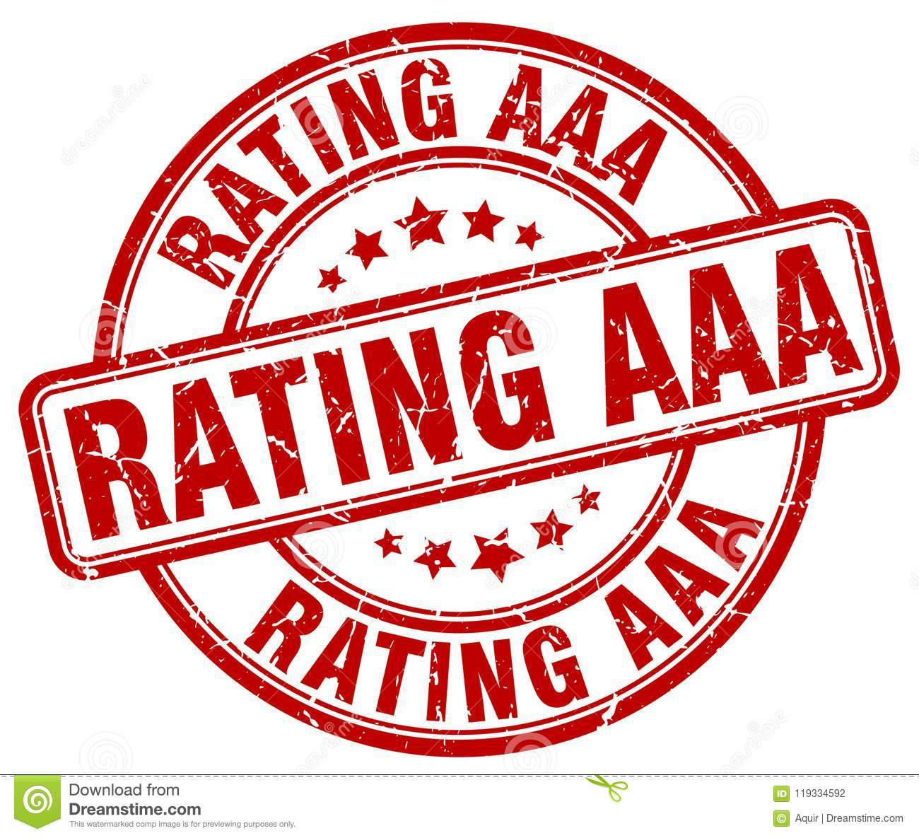 Rating Aaa Red Stamp Stock Vector Illustration Of Grungy 119334592