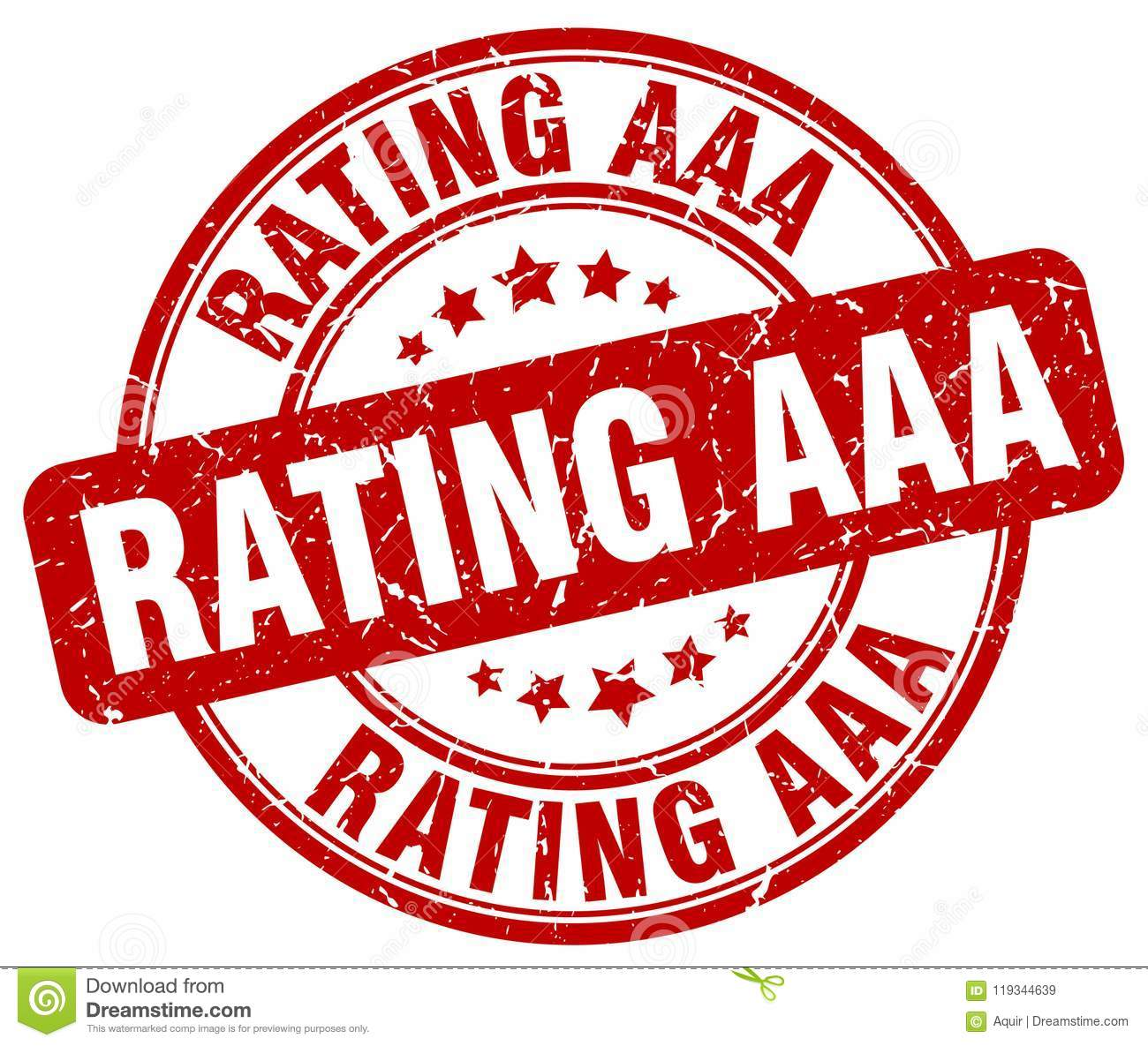 Rating Aaa Red Stamp Stock Vector Illustration Of Brown 119344639
