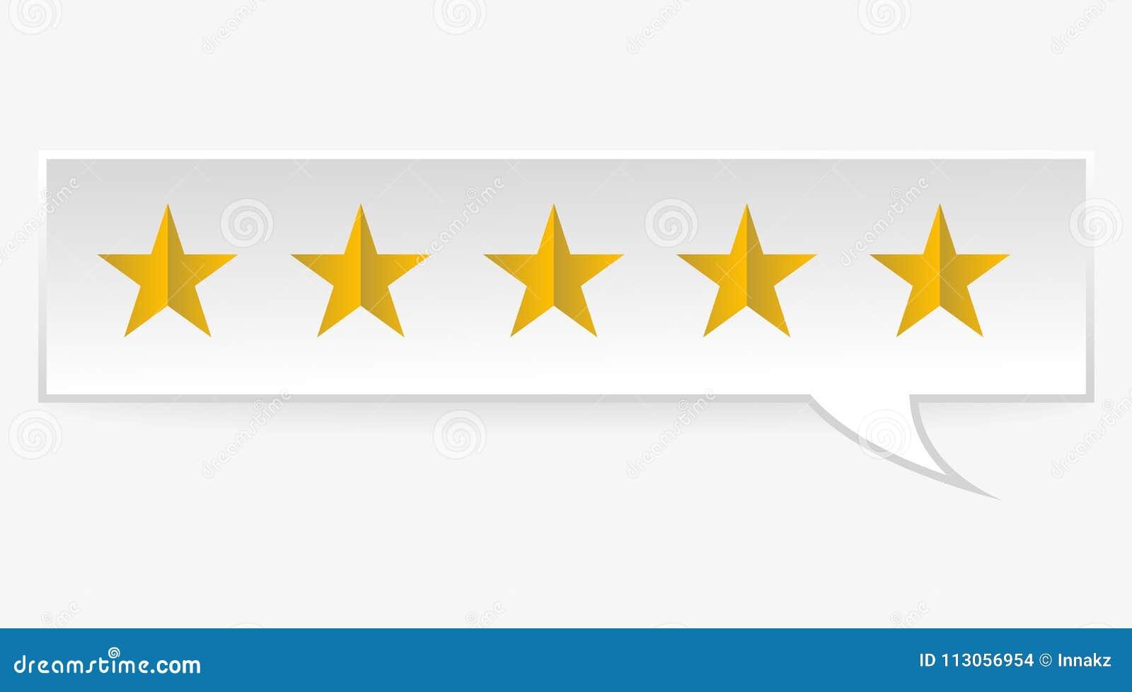 Rating Rank Stars Symbols Stock Vector Illustration Of First