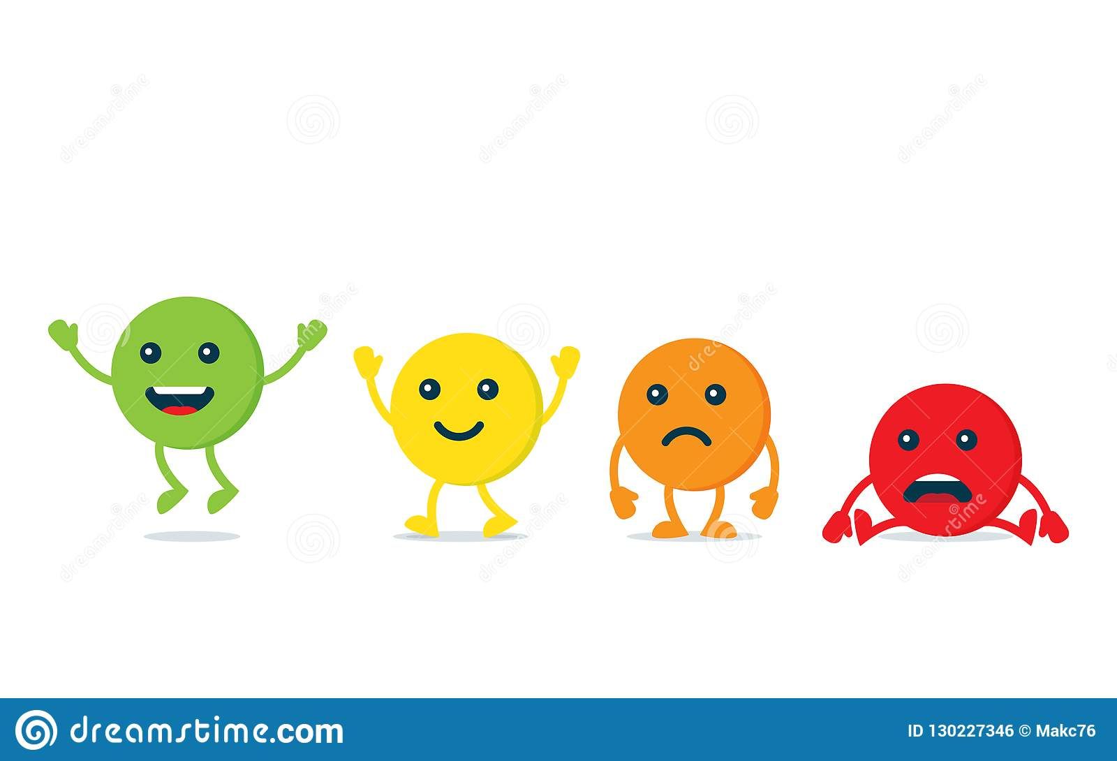 rating satisfaction  feedback in form of emotions  stock vector