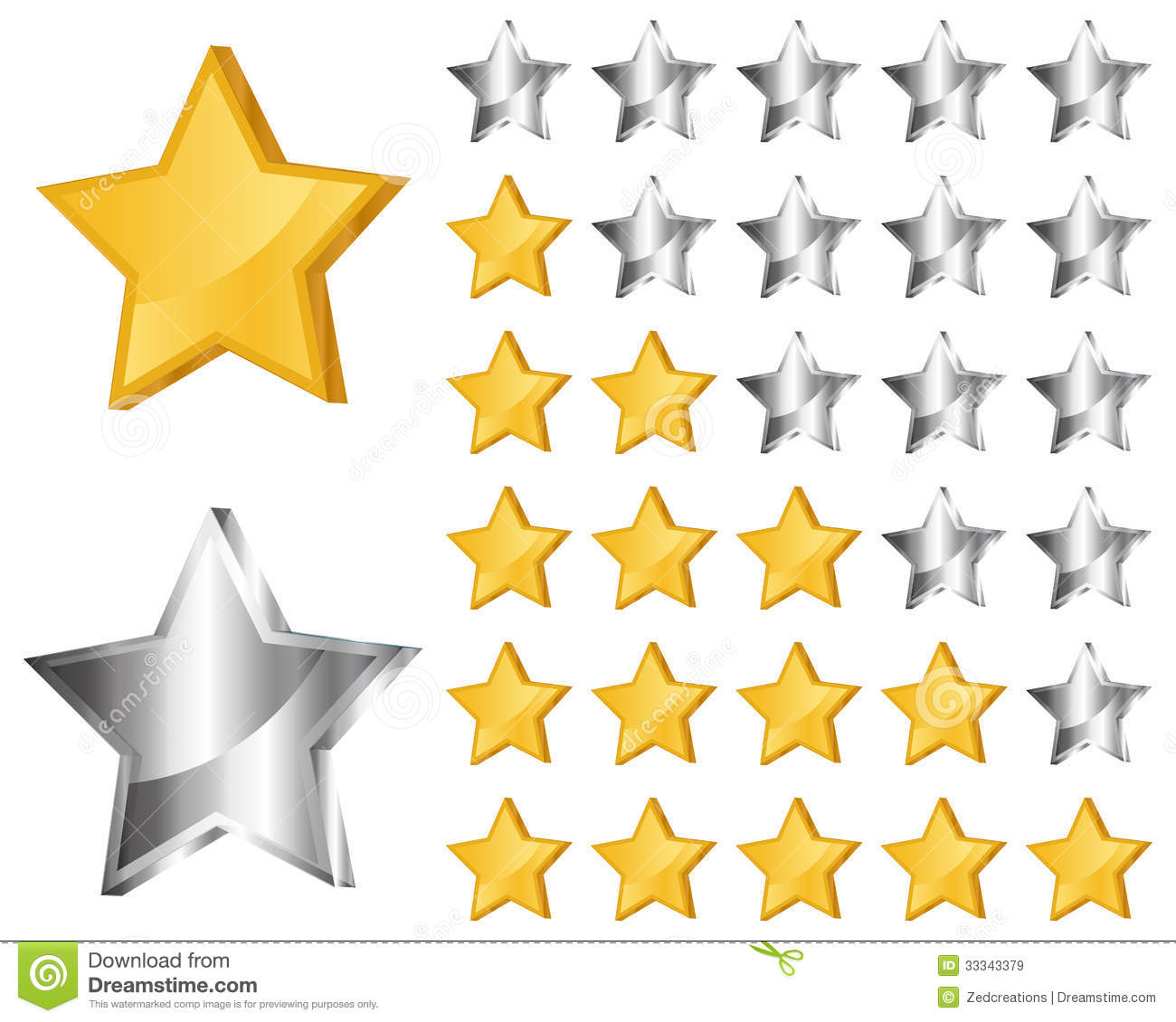 Rating Stars Stock Vector. Illustration Of Gold, Star