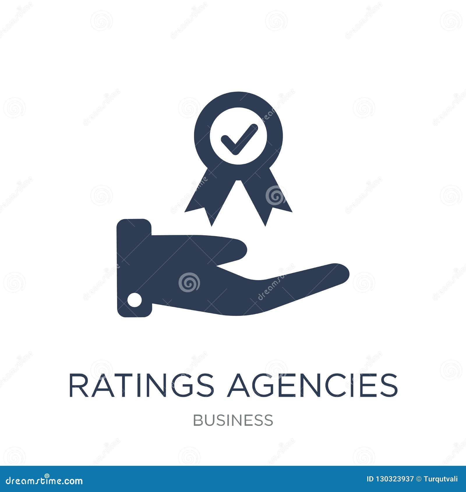 Ratings agencies icon. Trendy flat vector Ratings agencies icon
