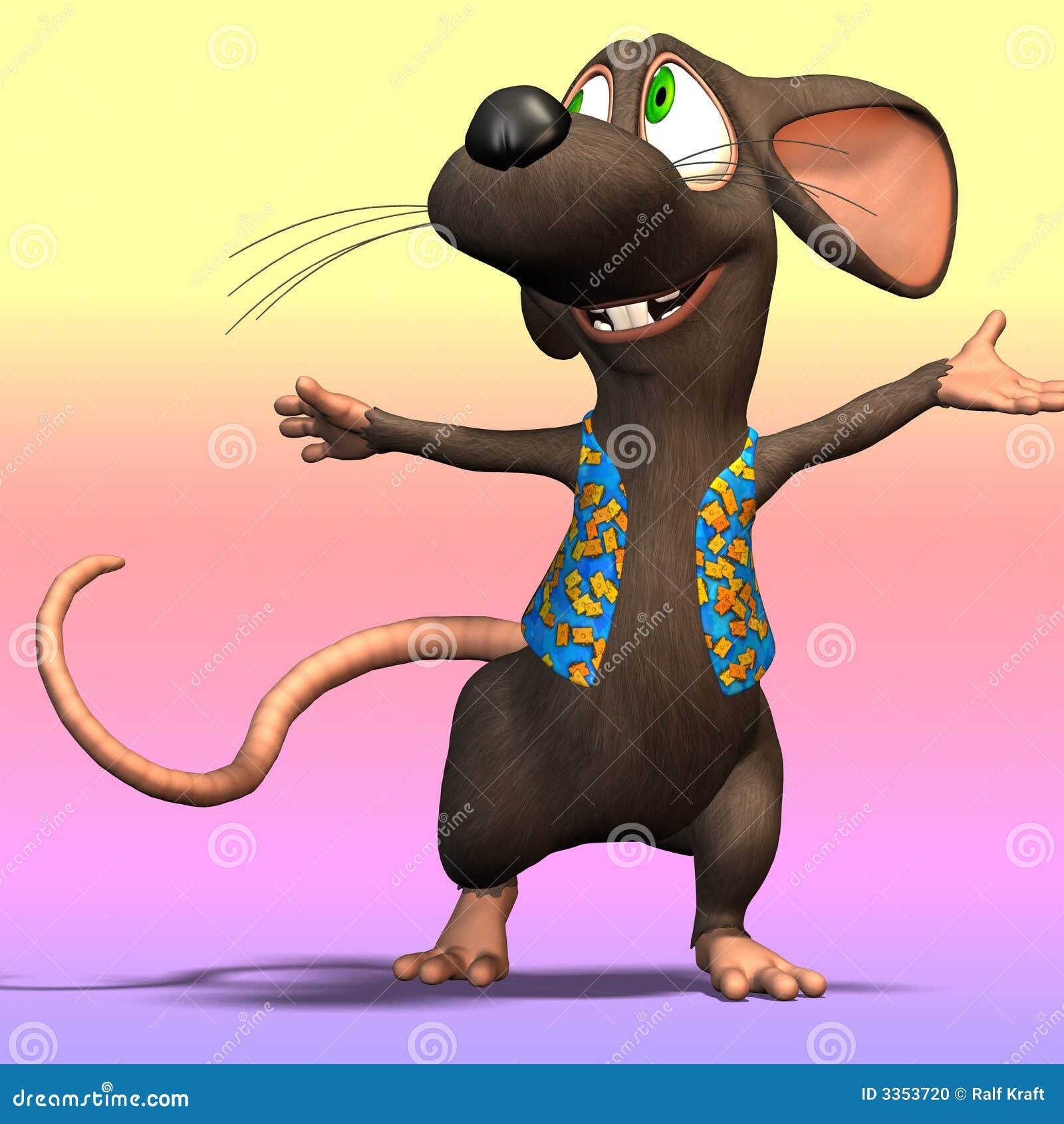 Rato dos desenhos animados ou rato #04